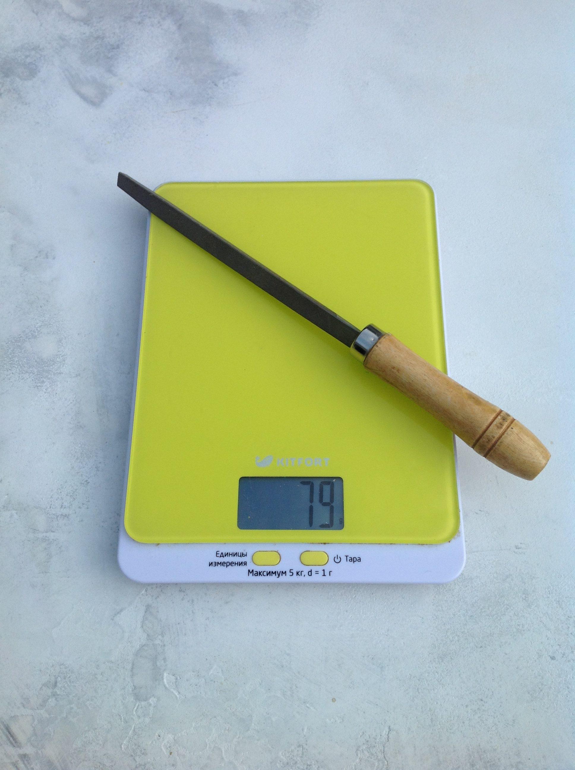 вес напильника трехгранного