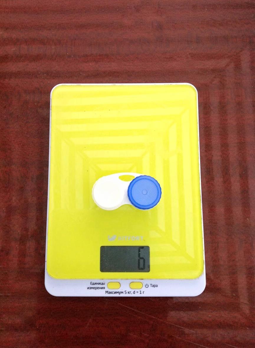 вес контейнера для линз