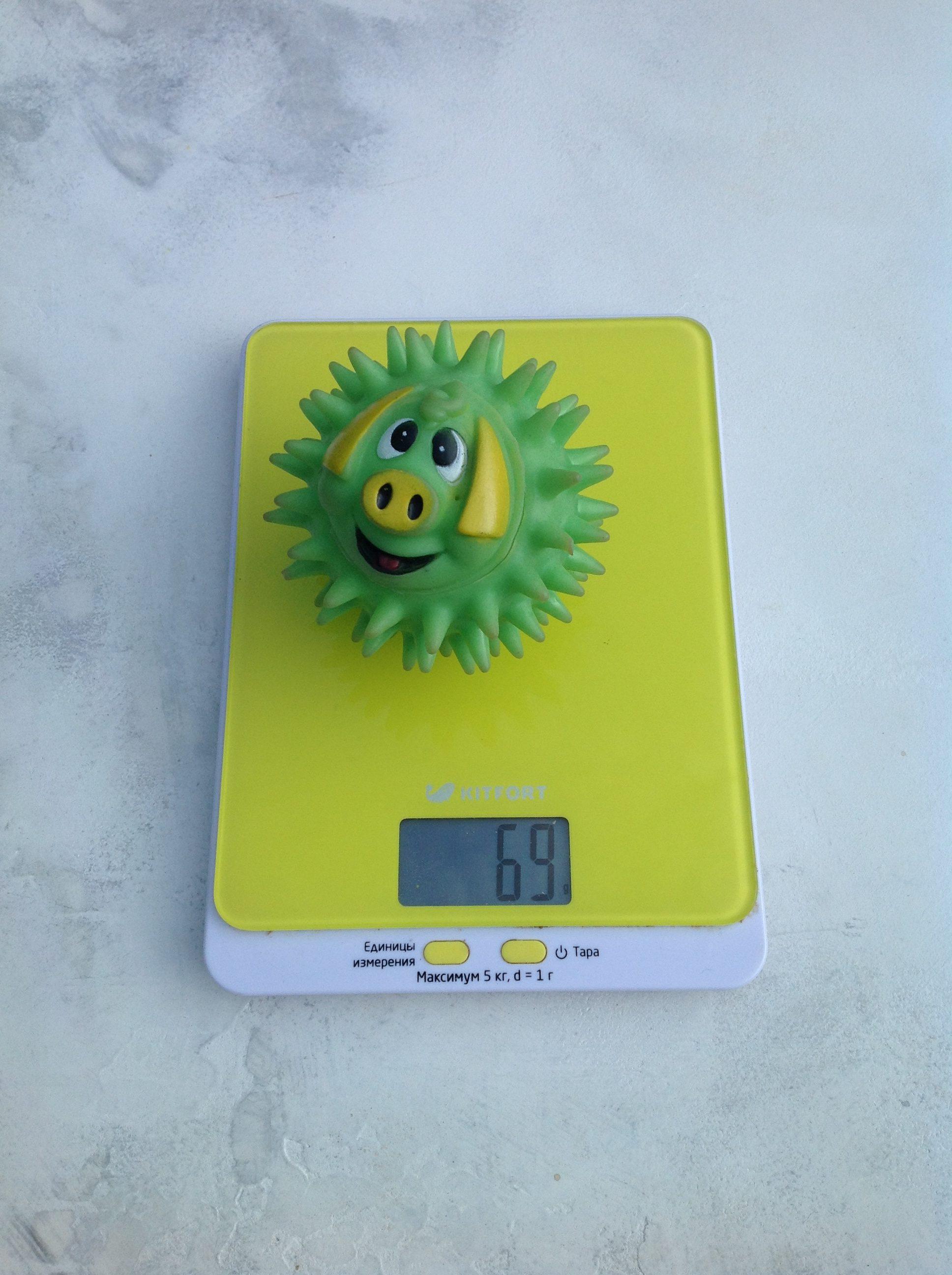 вес резиновой игрушки для собаки