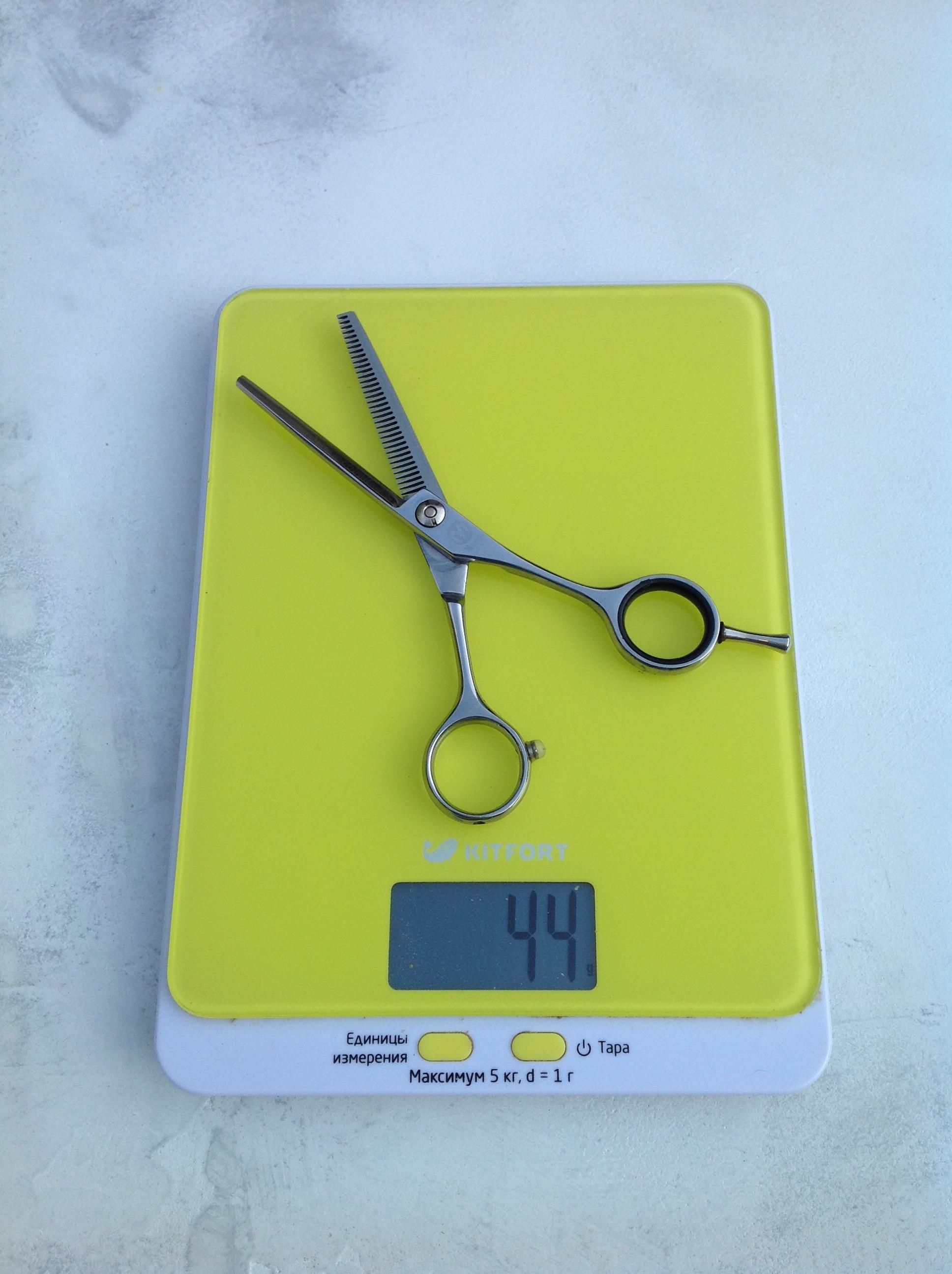 вес ножниц филировочных