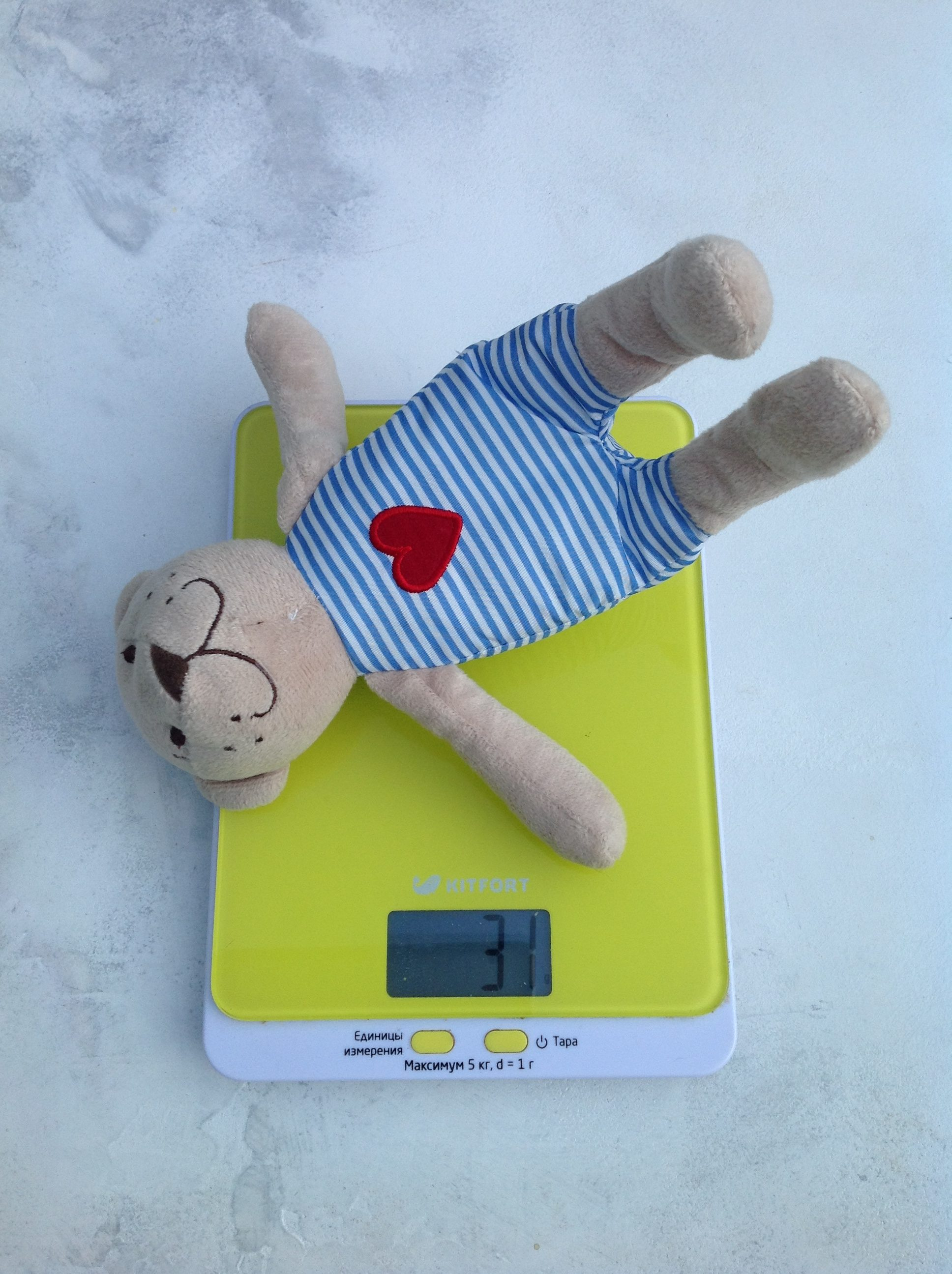 вес мягкой игрушки