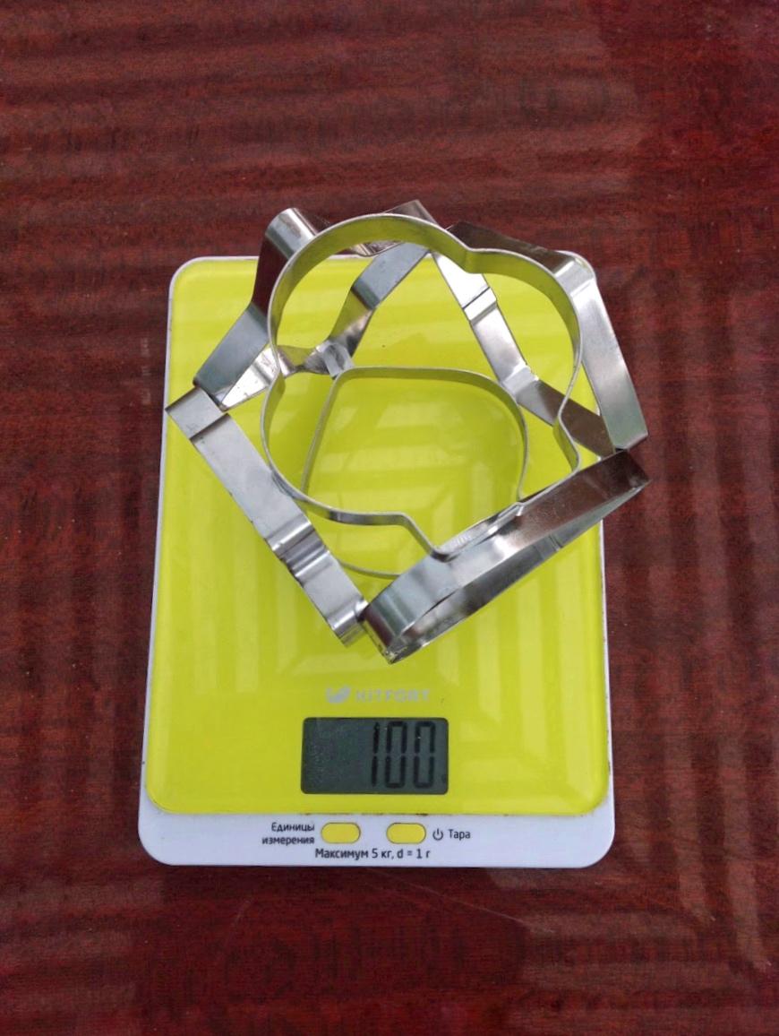 вес большой формы для печенья объемной