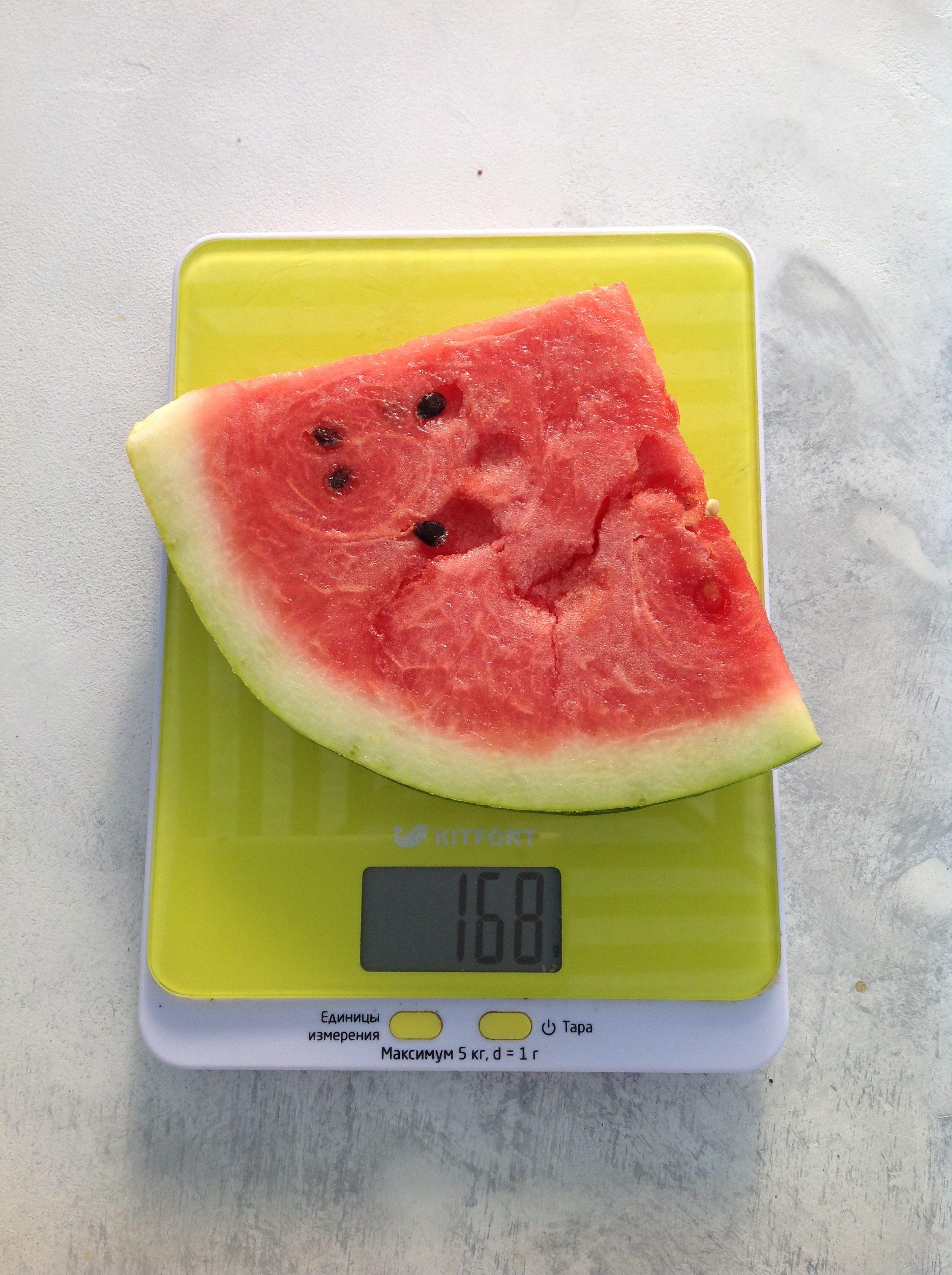 вес кусочека арбуза