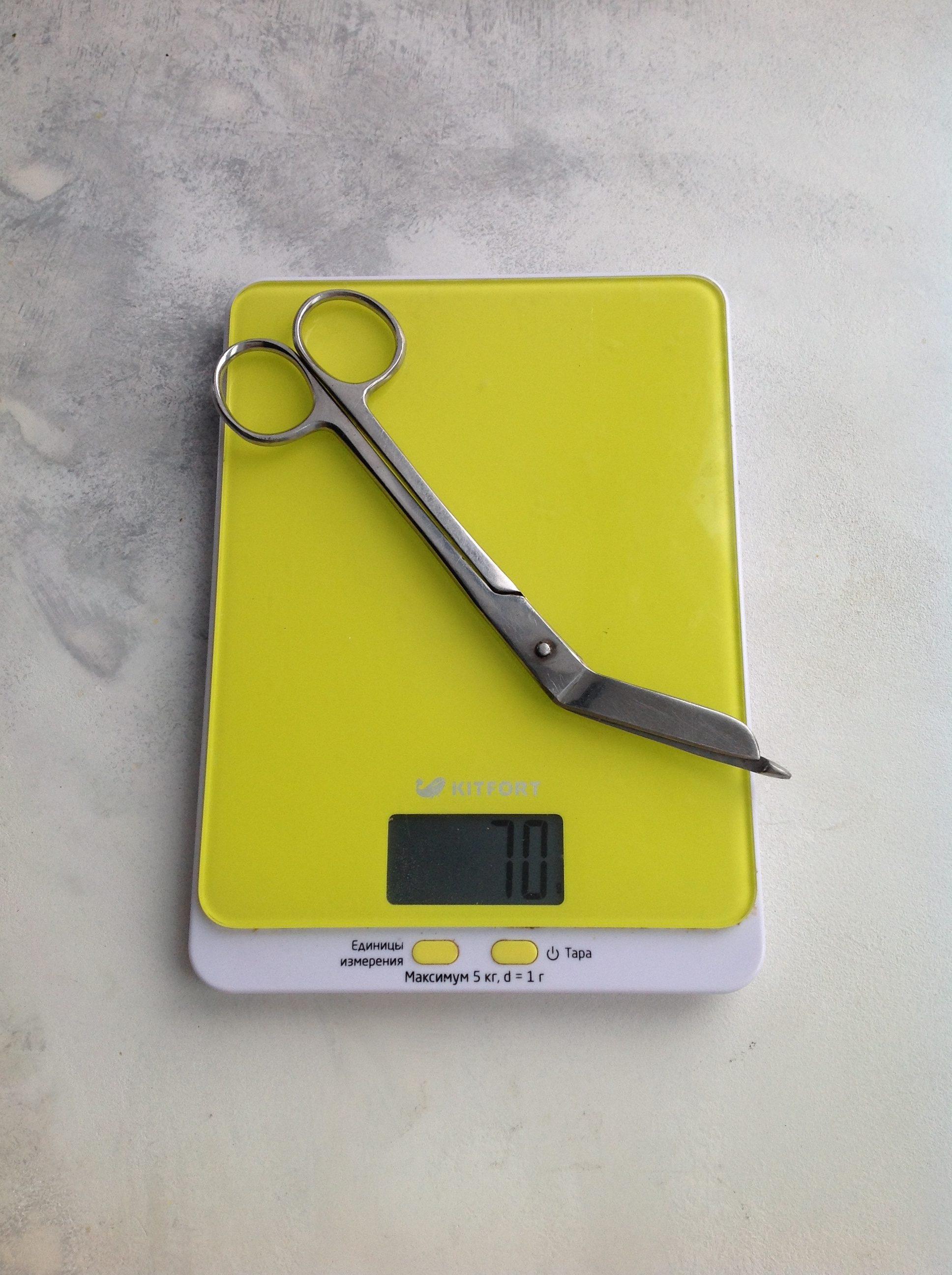 вес ножниц медицинских для разрезания повязок