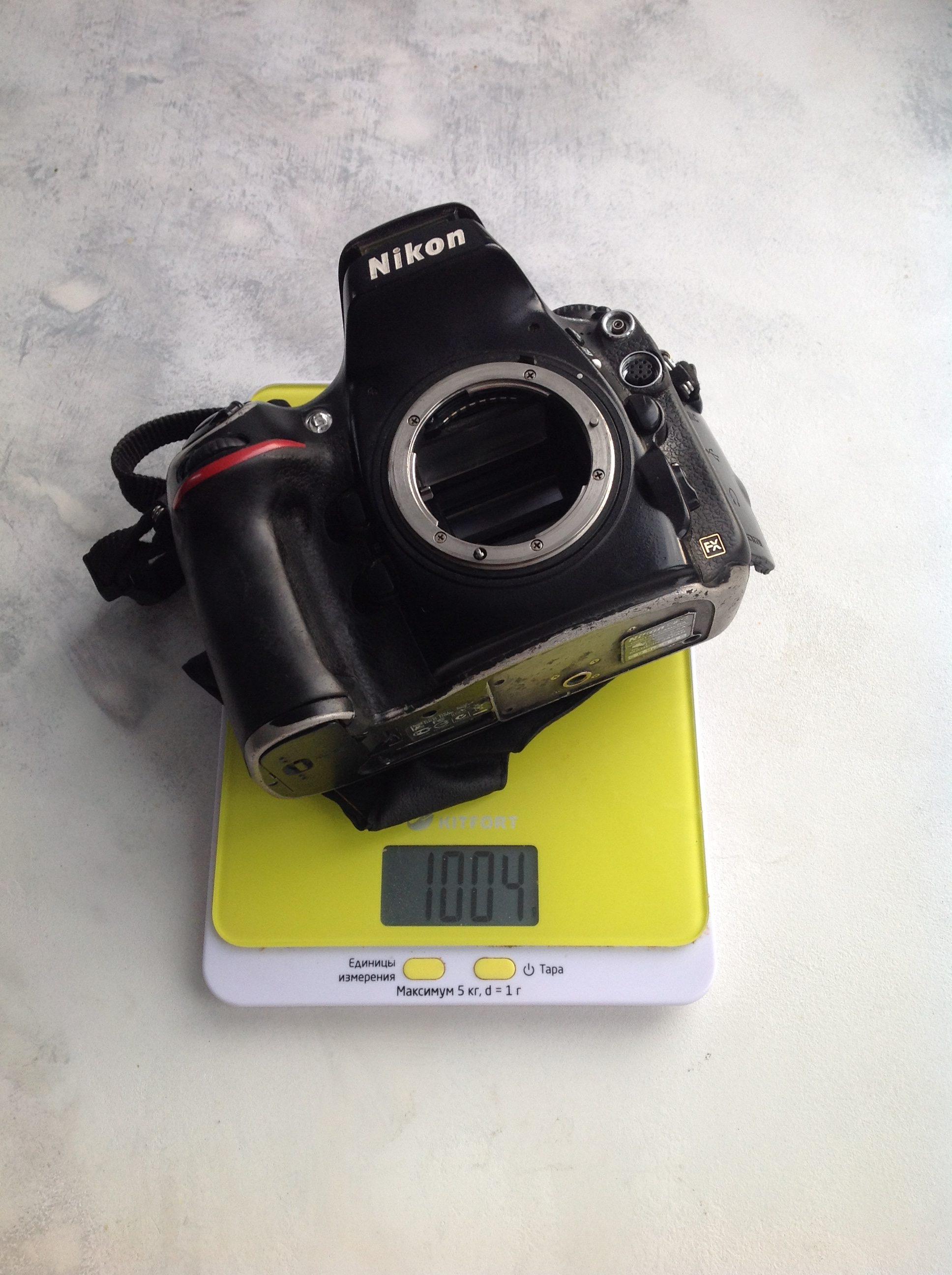 вес фотоаппарата nikon d800 body