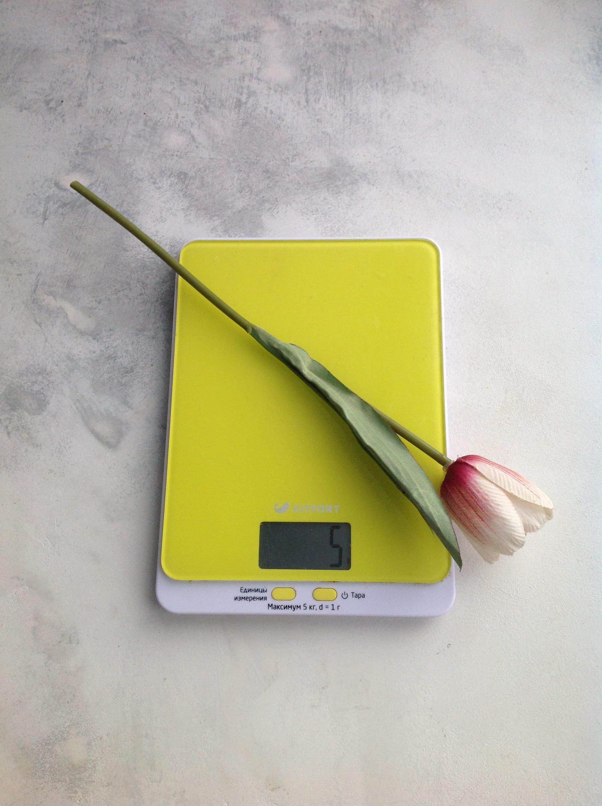 вес искусственного цветка тюльпан