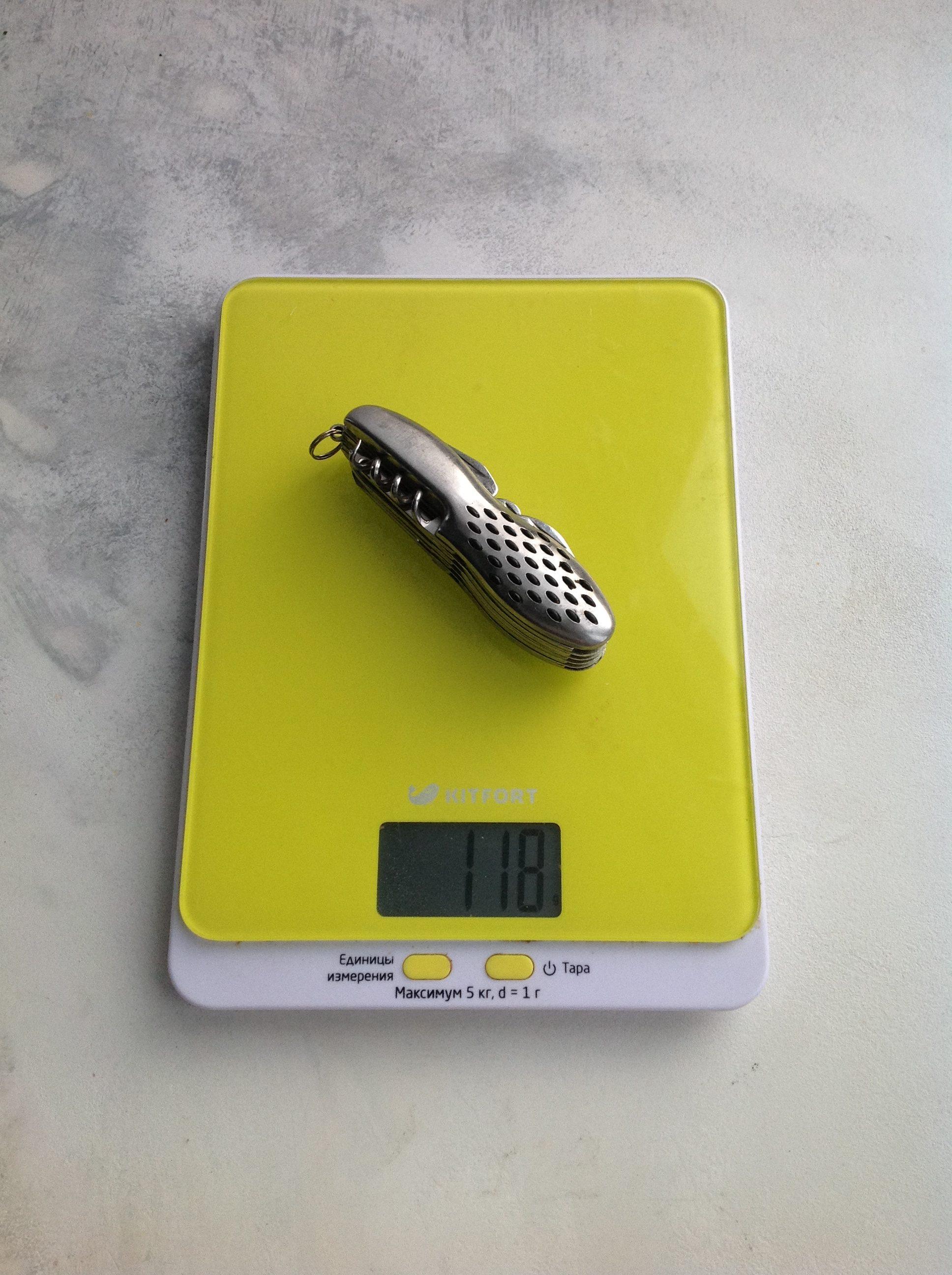 вес многофункционального ножа