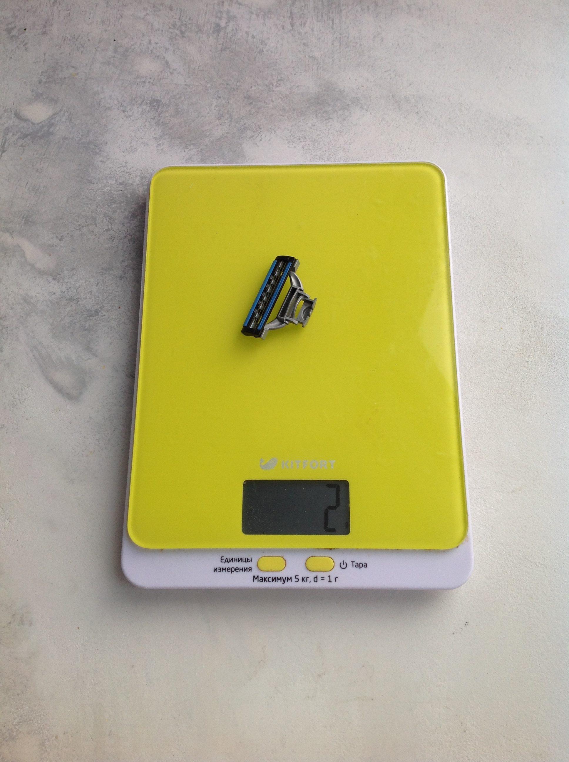 вес сменной головки для бритвенного станка