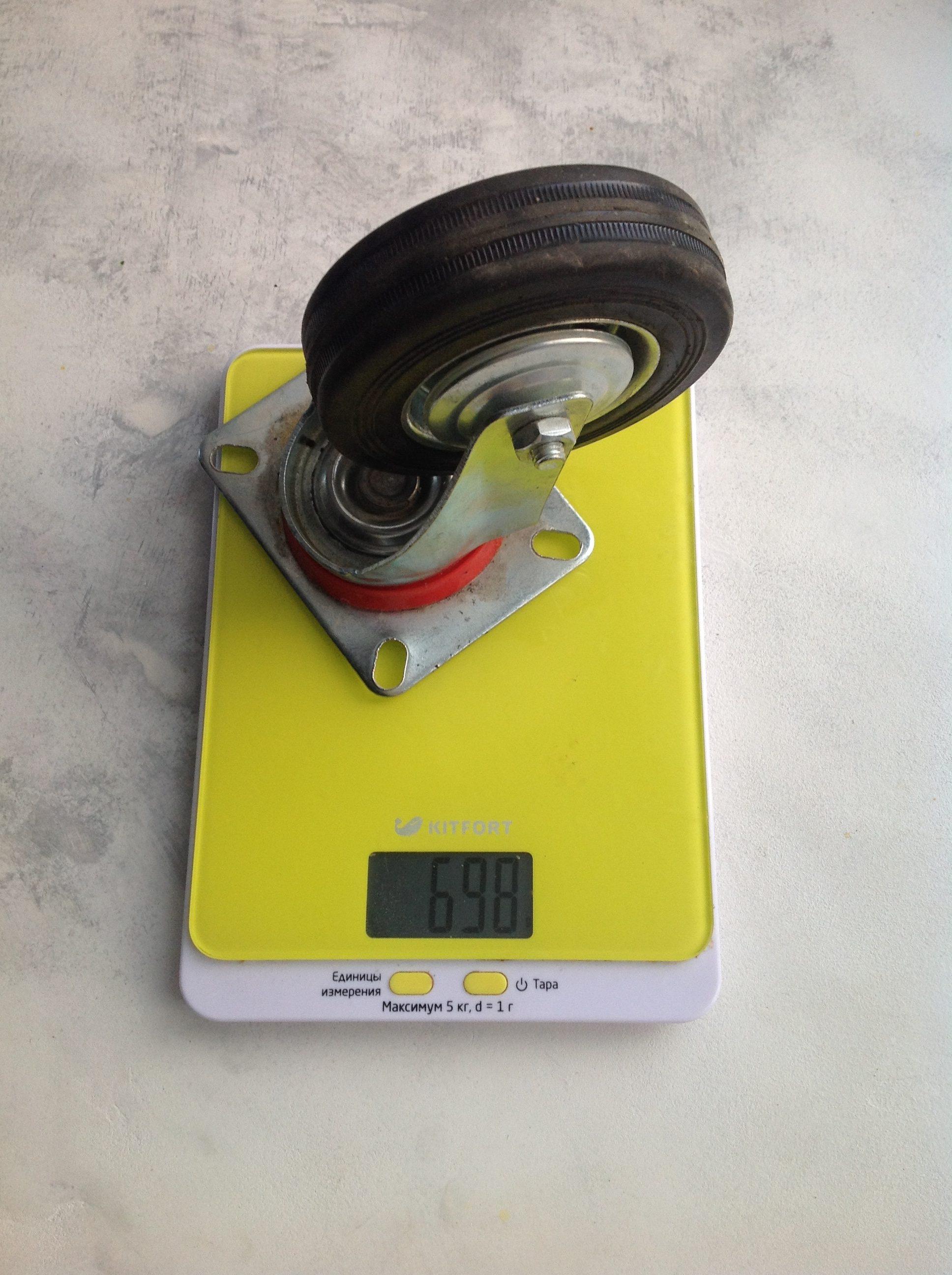 вес колеса мебельного большого