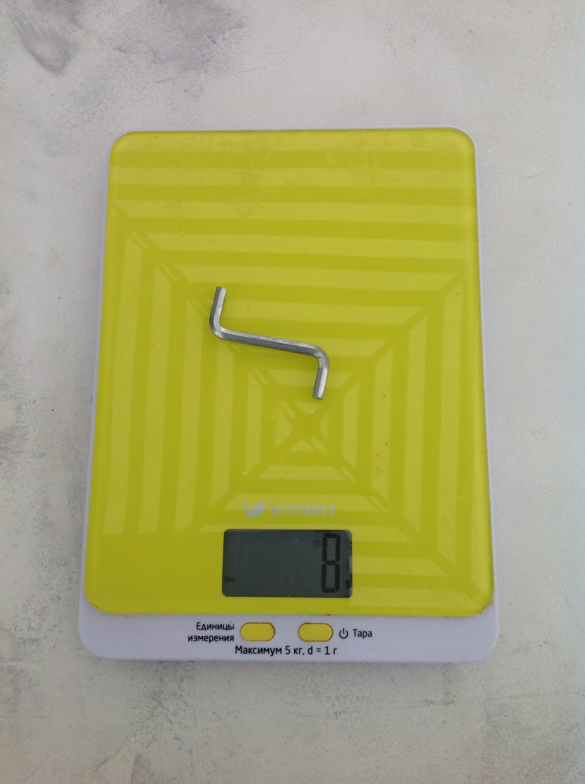 вес ключа для евровинта