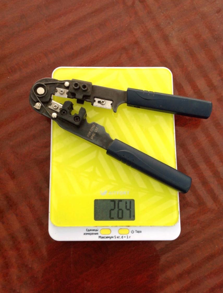 вес клещей обжимных