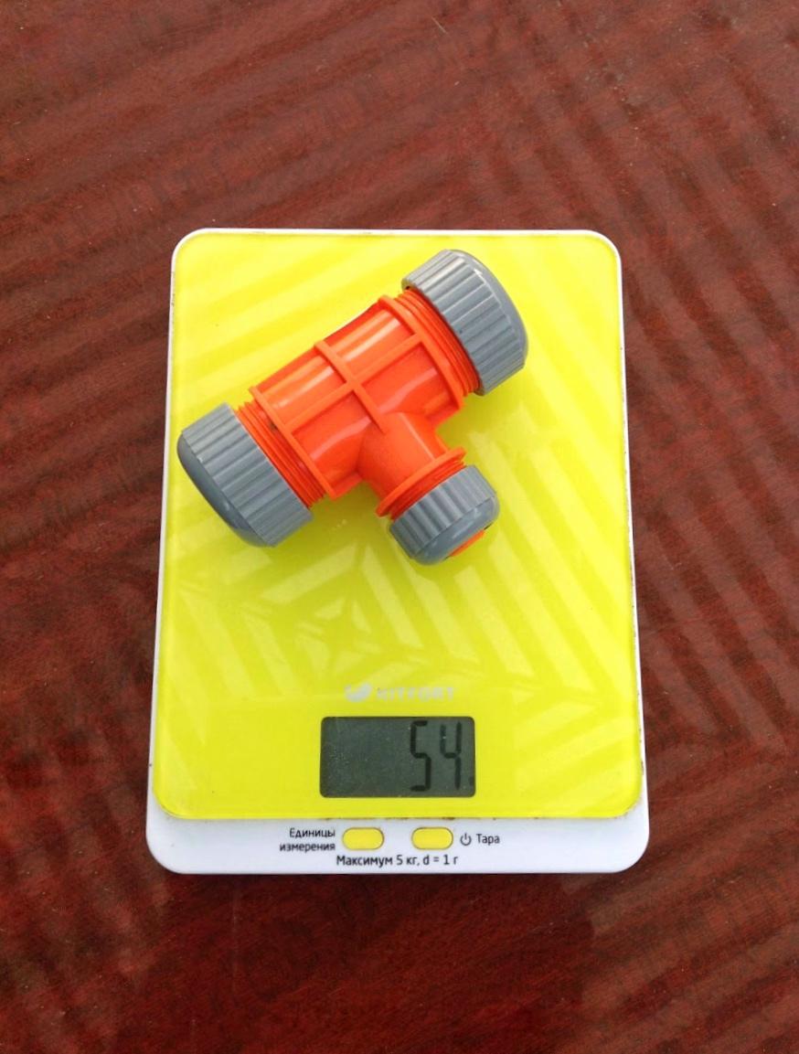 вес тройника для поливочного шланга