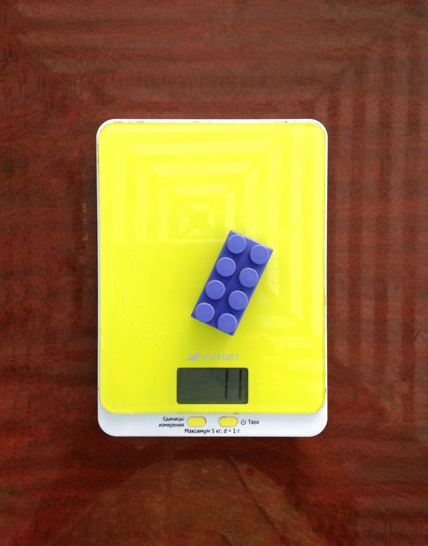 вес средней детальки лего