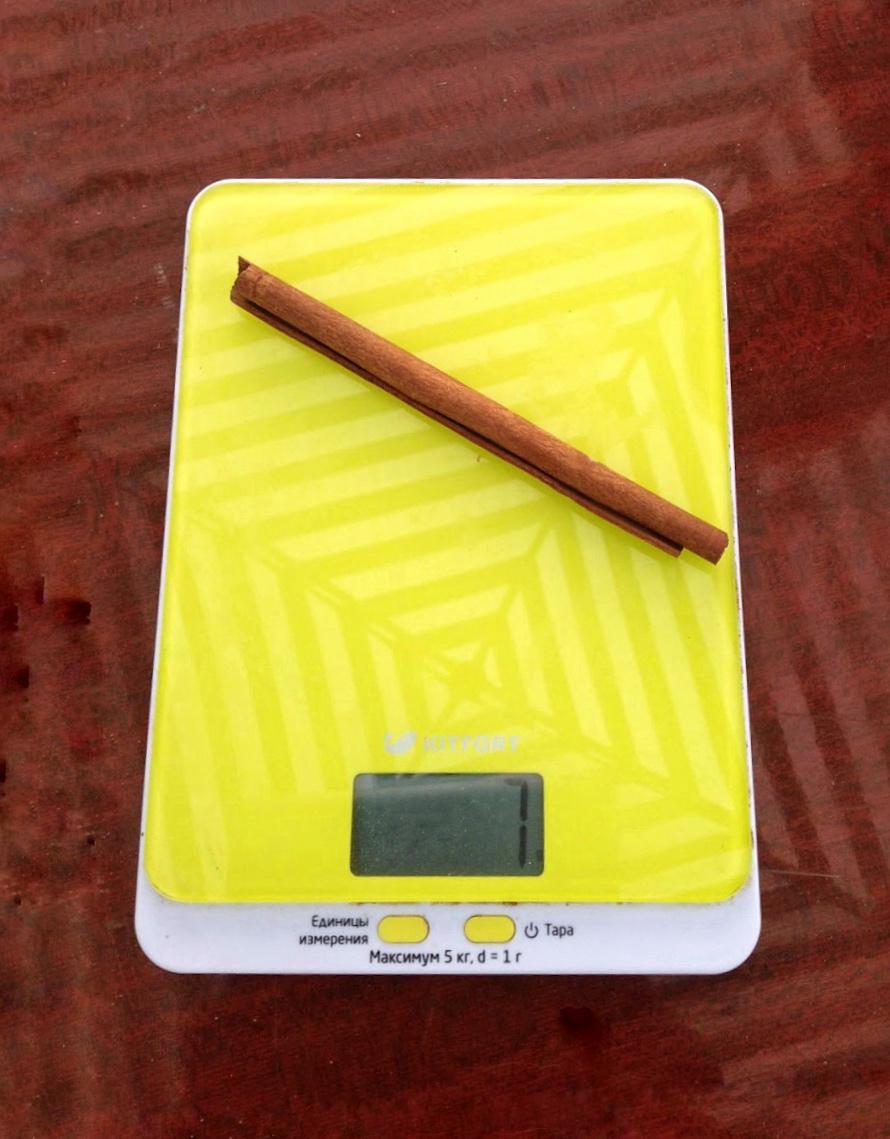вес палочки корицы