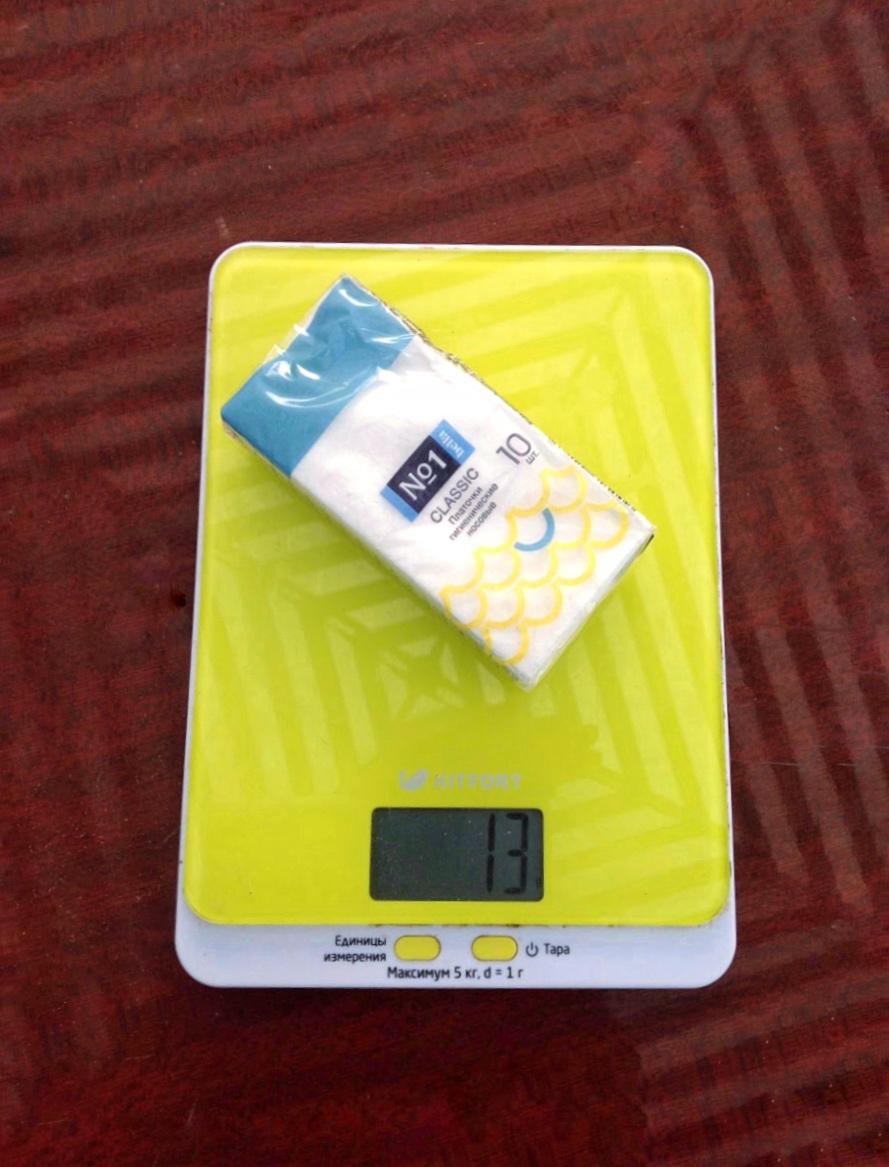 вес бумажных платочков гигиенических носовых