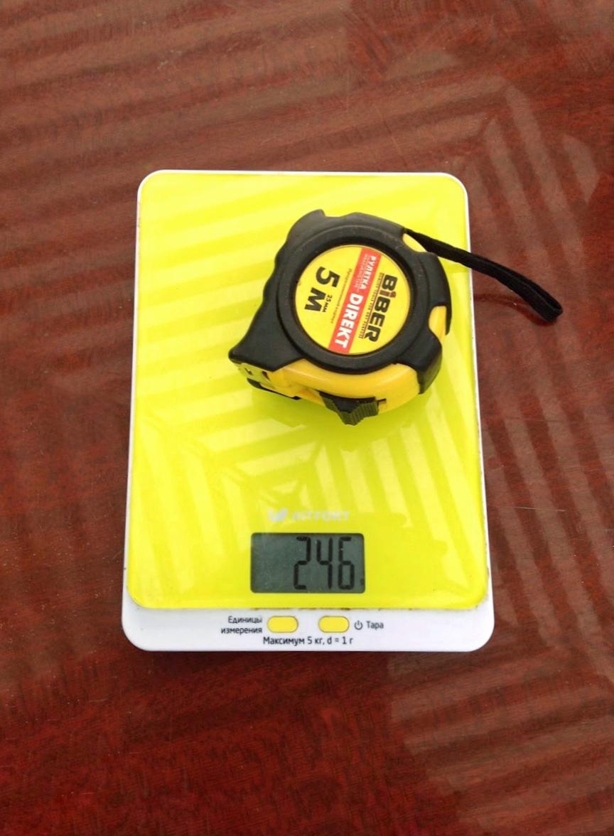 вес рулетки строительной