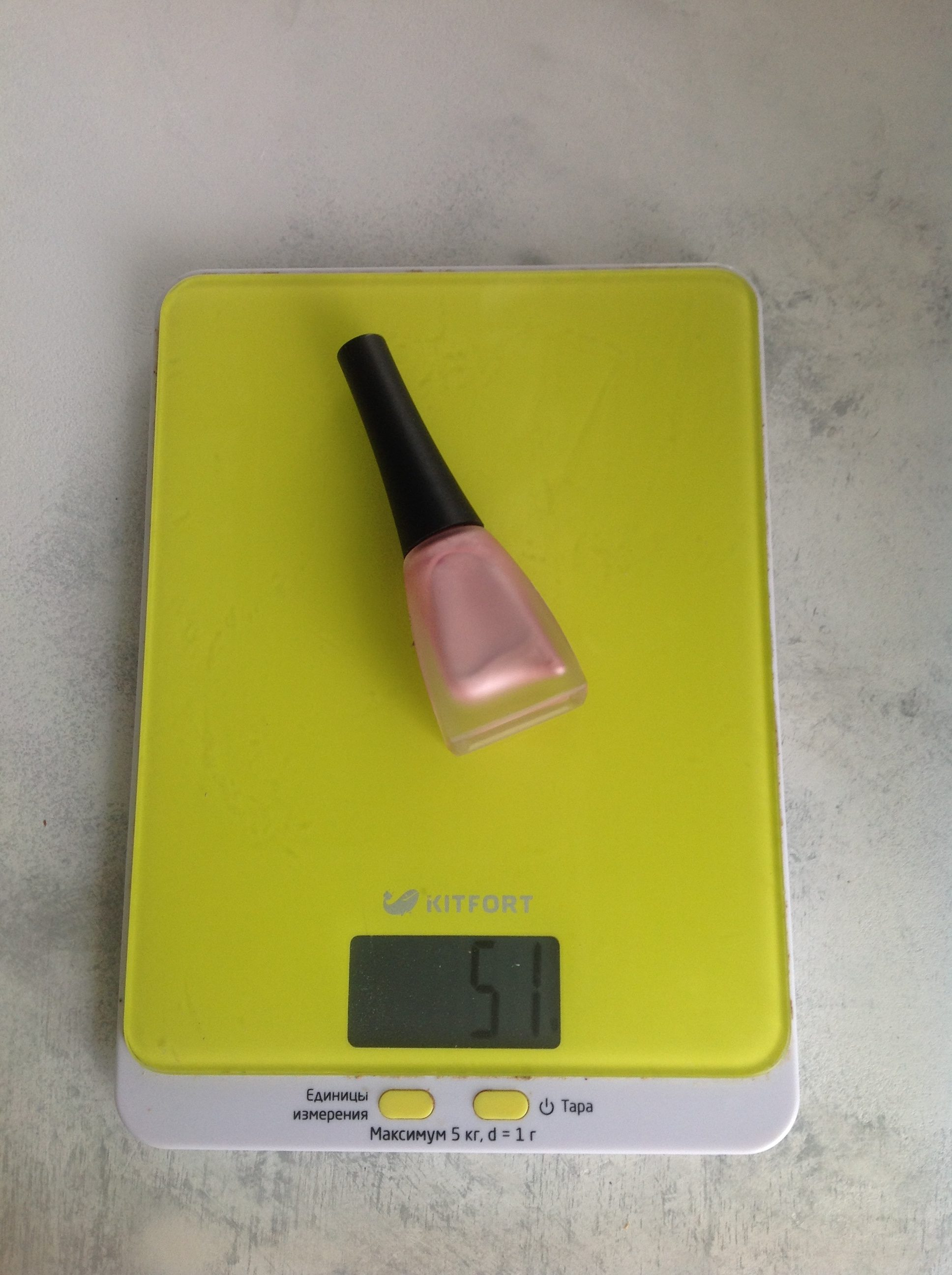 вес лака для ногтей обыкновенного