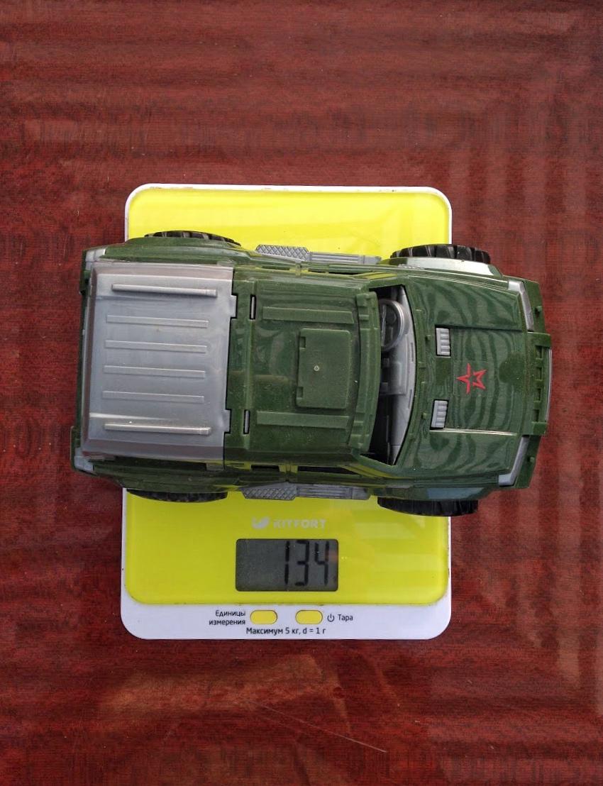 вес машинки пластиковой средней
