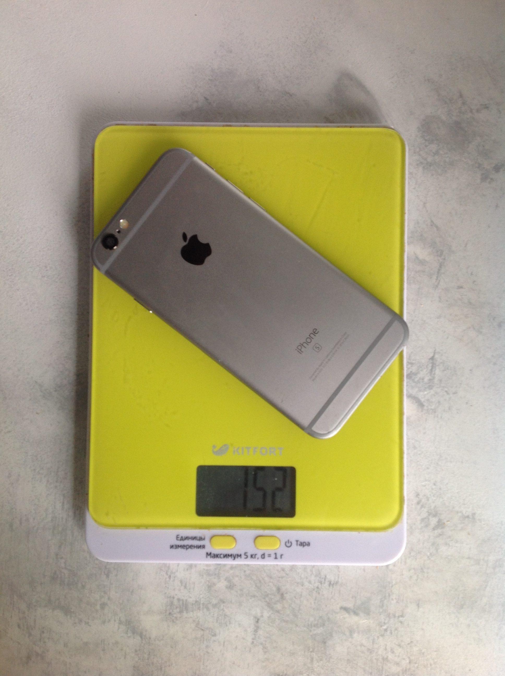 вес айфона 6s