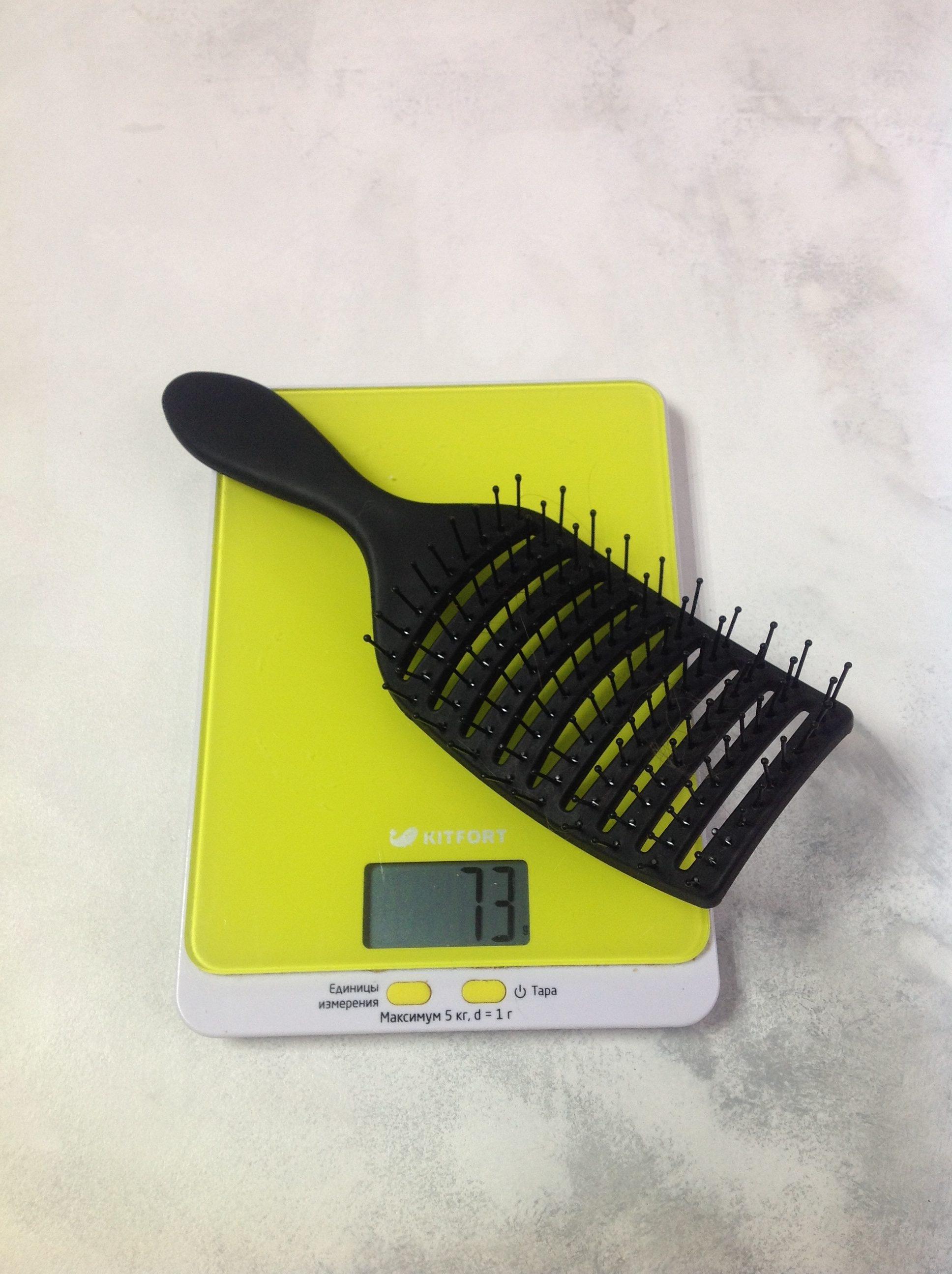 вес расчески для волос массажной