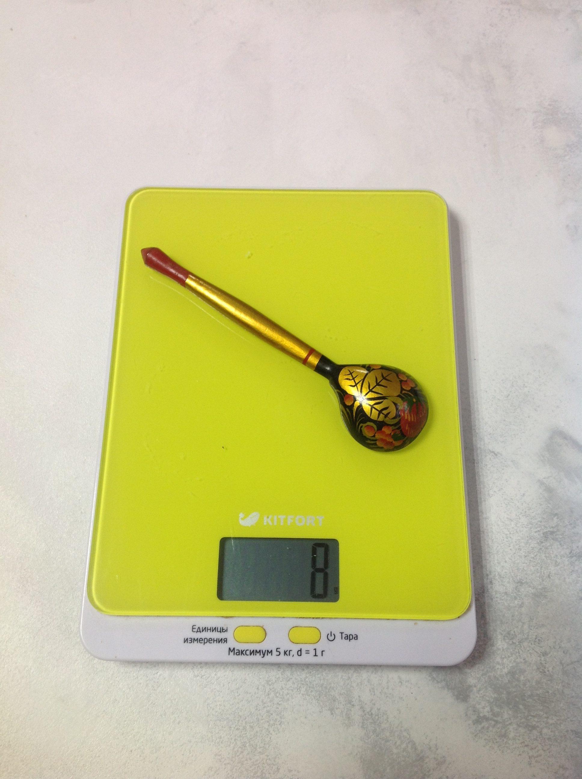 вес деревянной чайной ложки хохлома