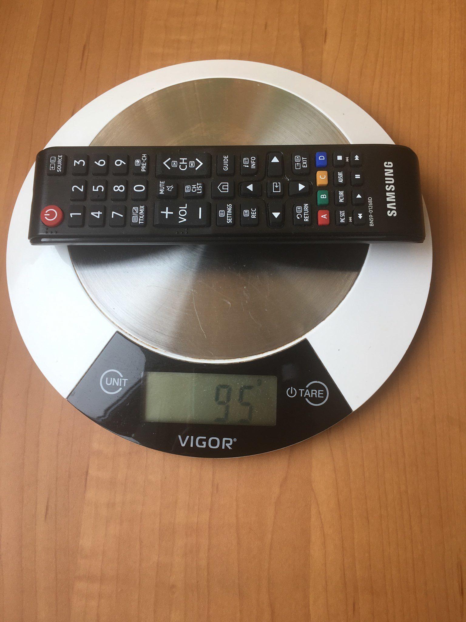 вес пульта от телевизора