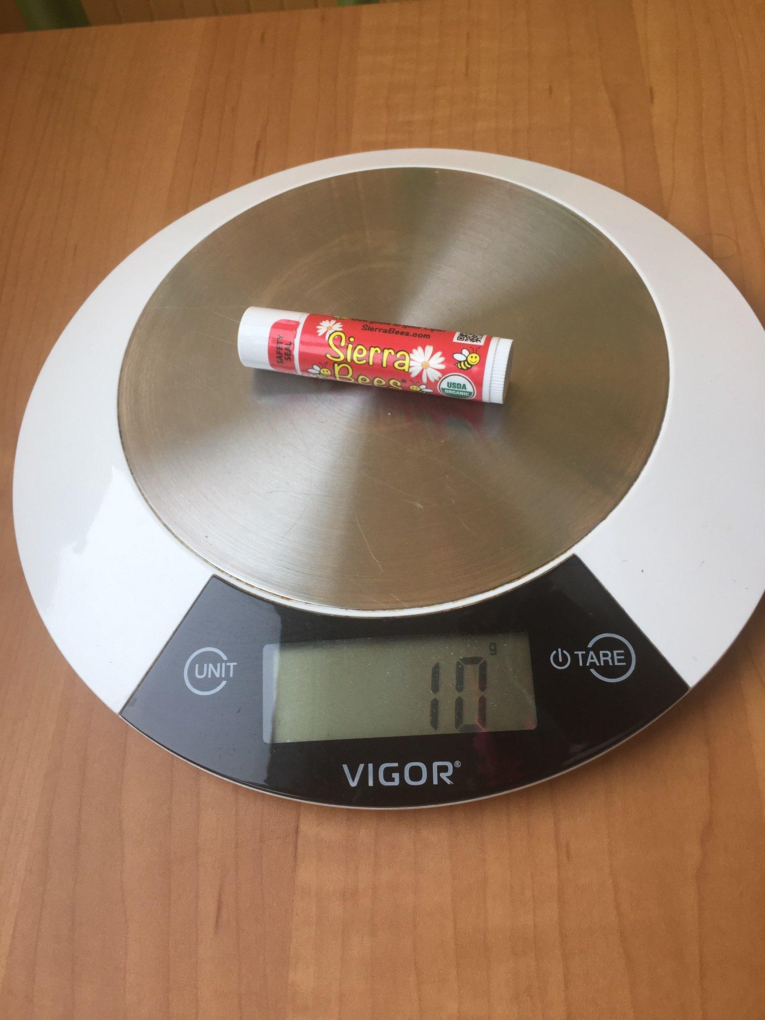 вес помады гигиенической