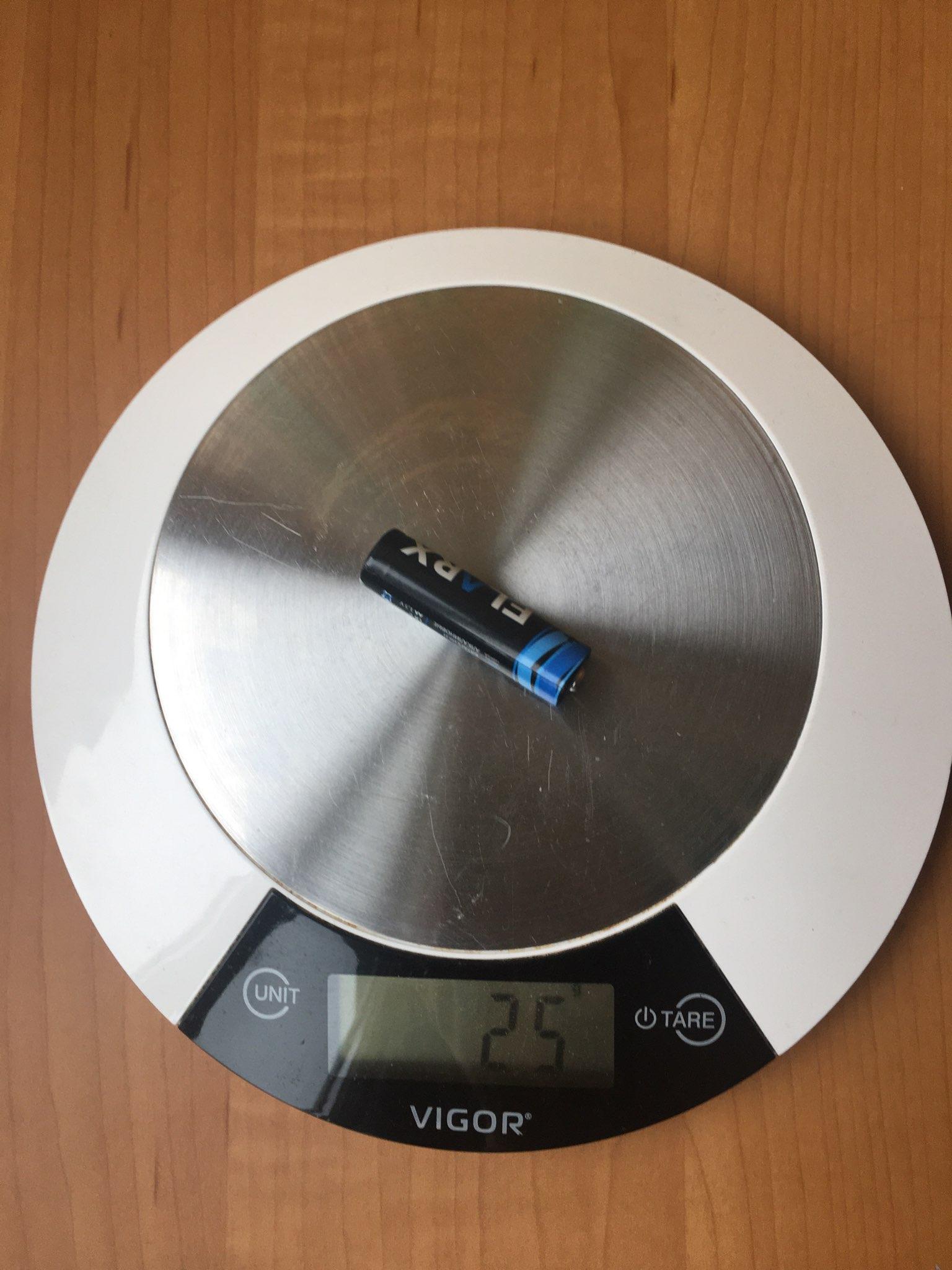 вес батарейки пальчиковой