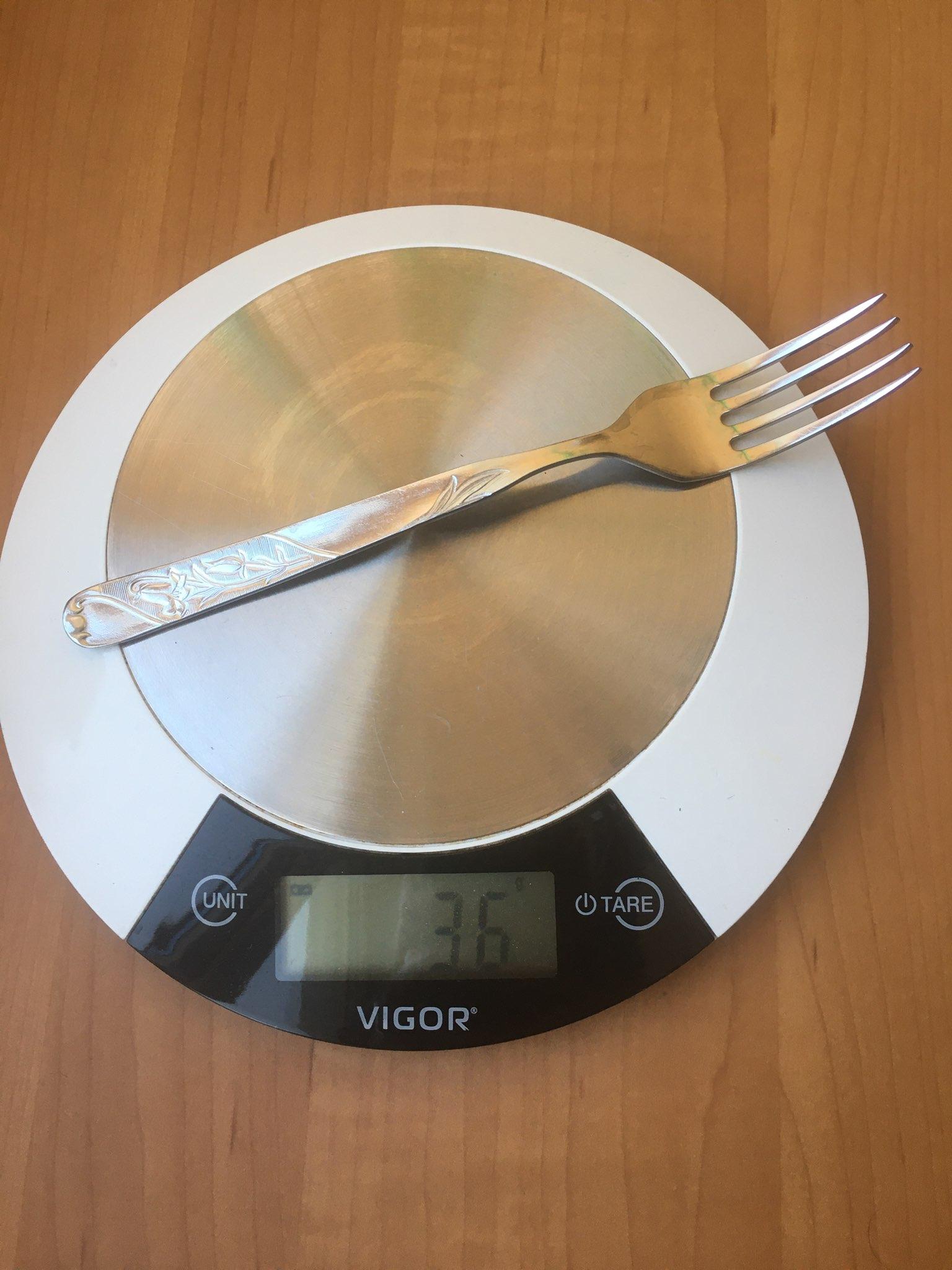 вес вилки столовой