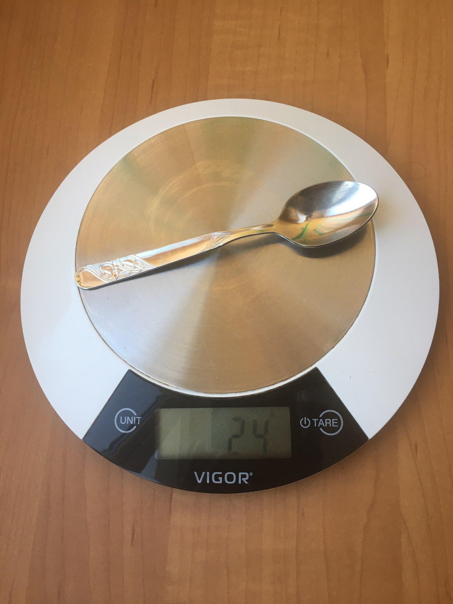 вес ложки чайной