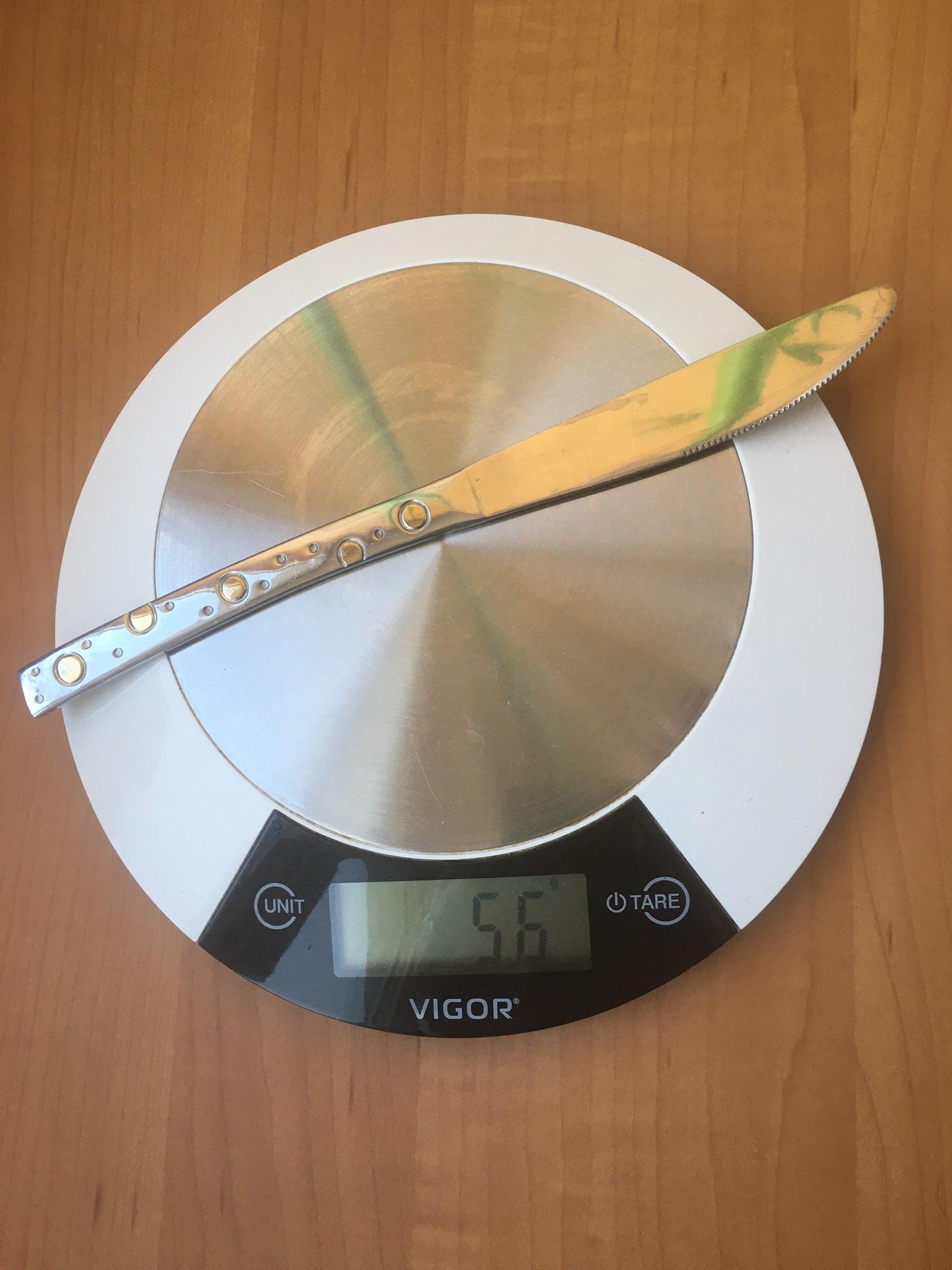 вес ножа десертного