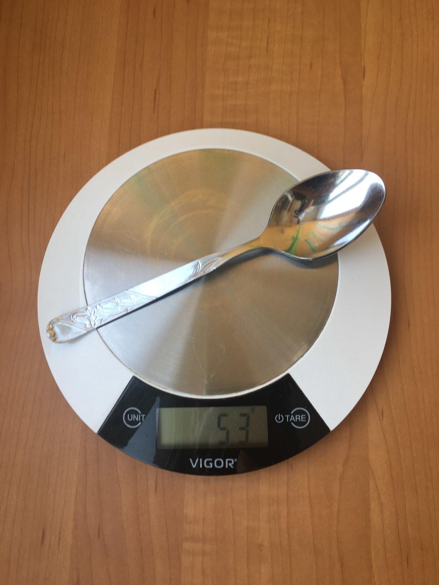вес ложки столовой