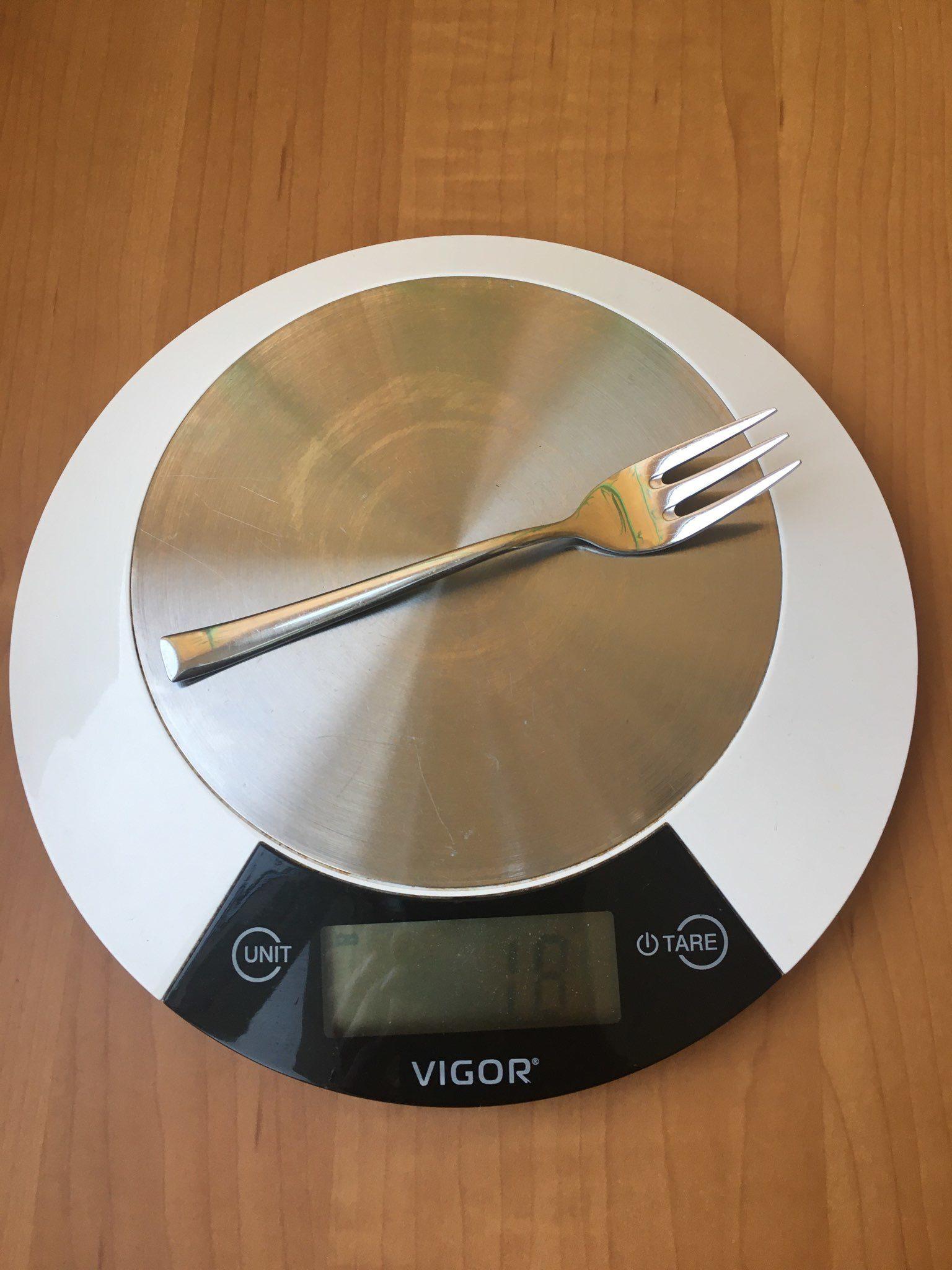 вес вилки десертной