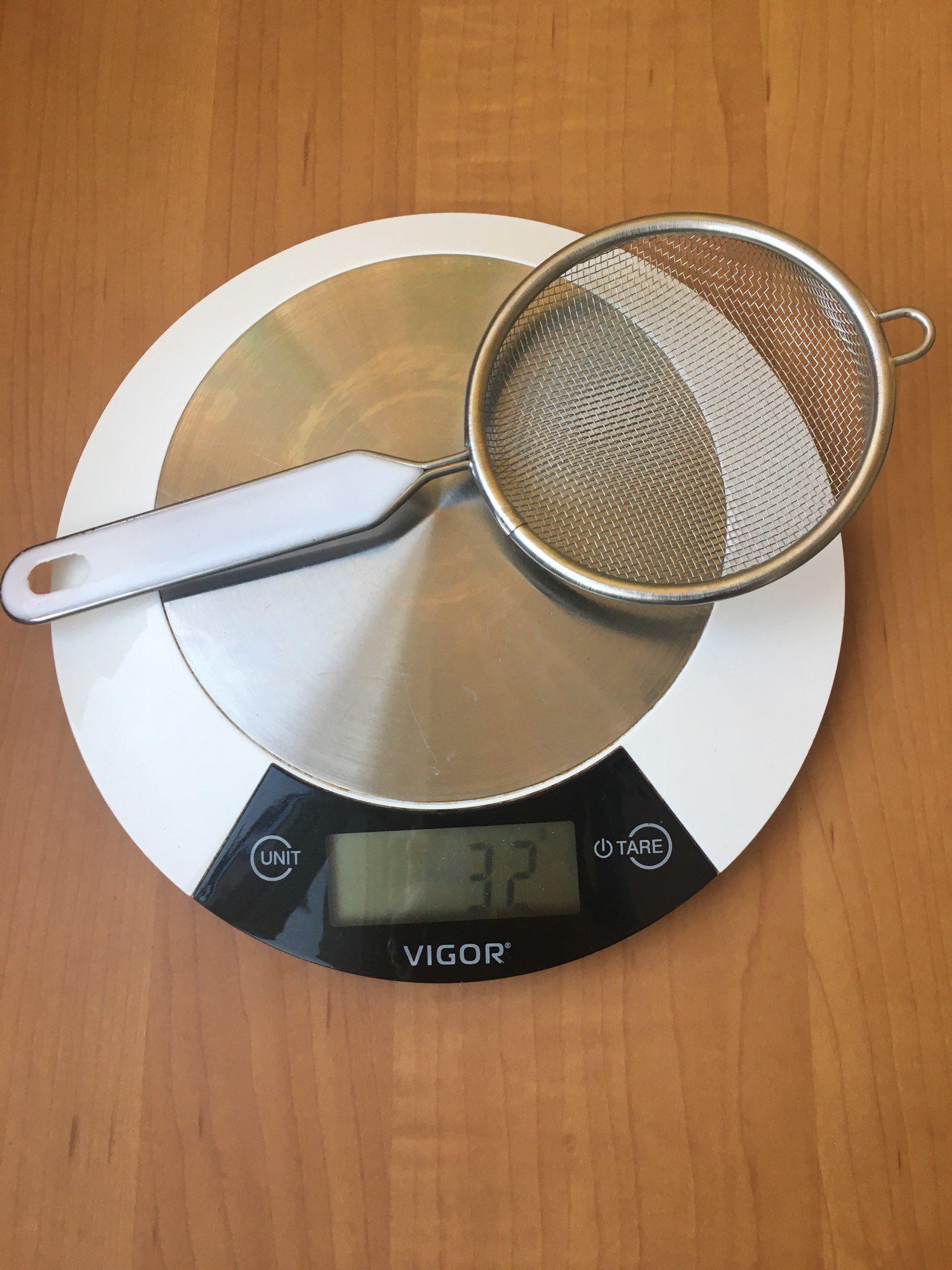 вес ситечка кухонного