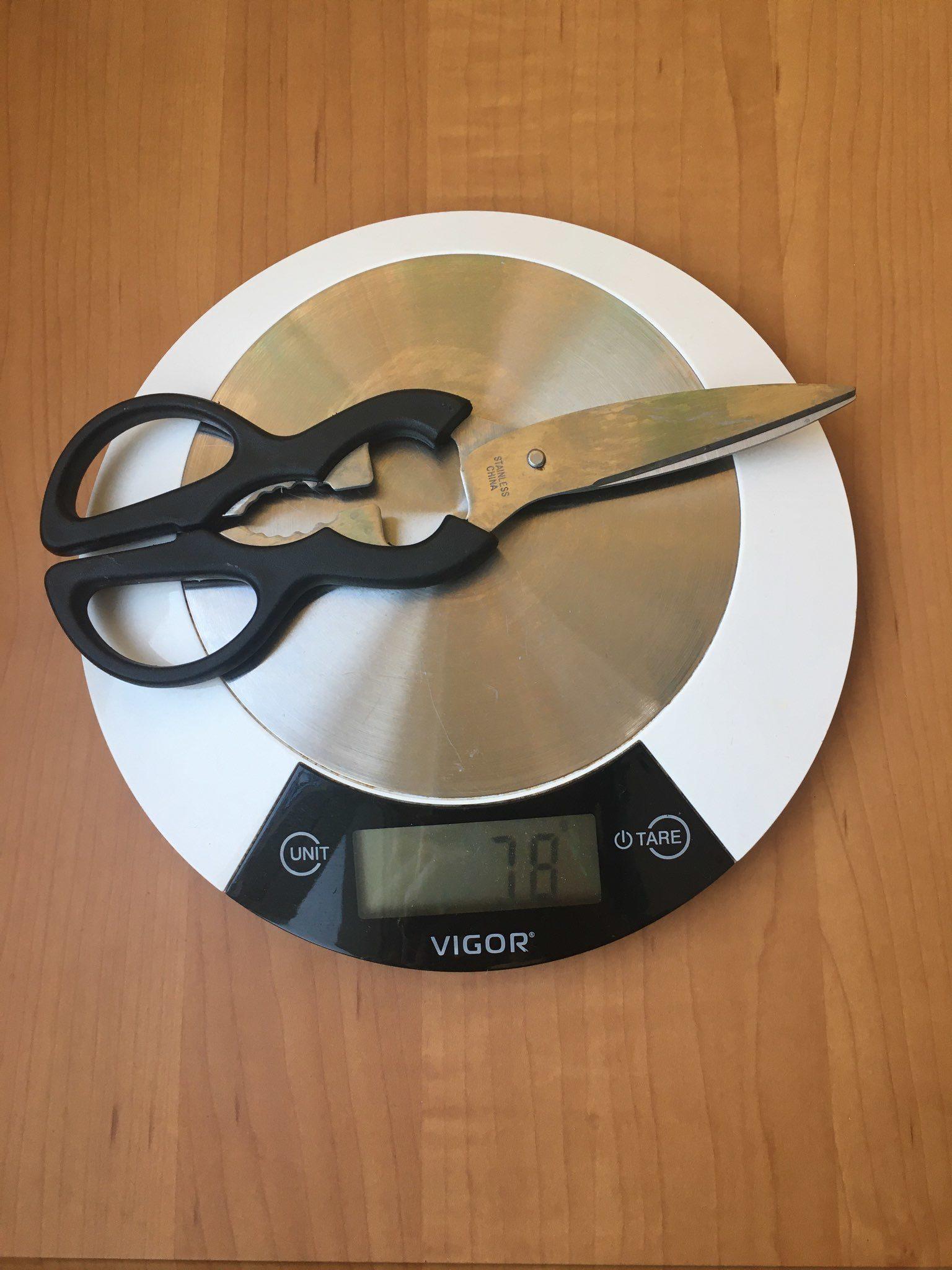 вес ножниц кухонных