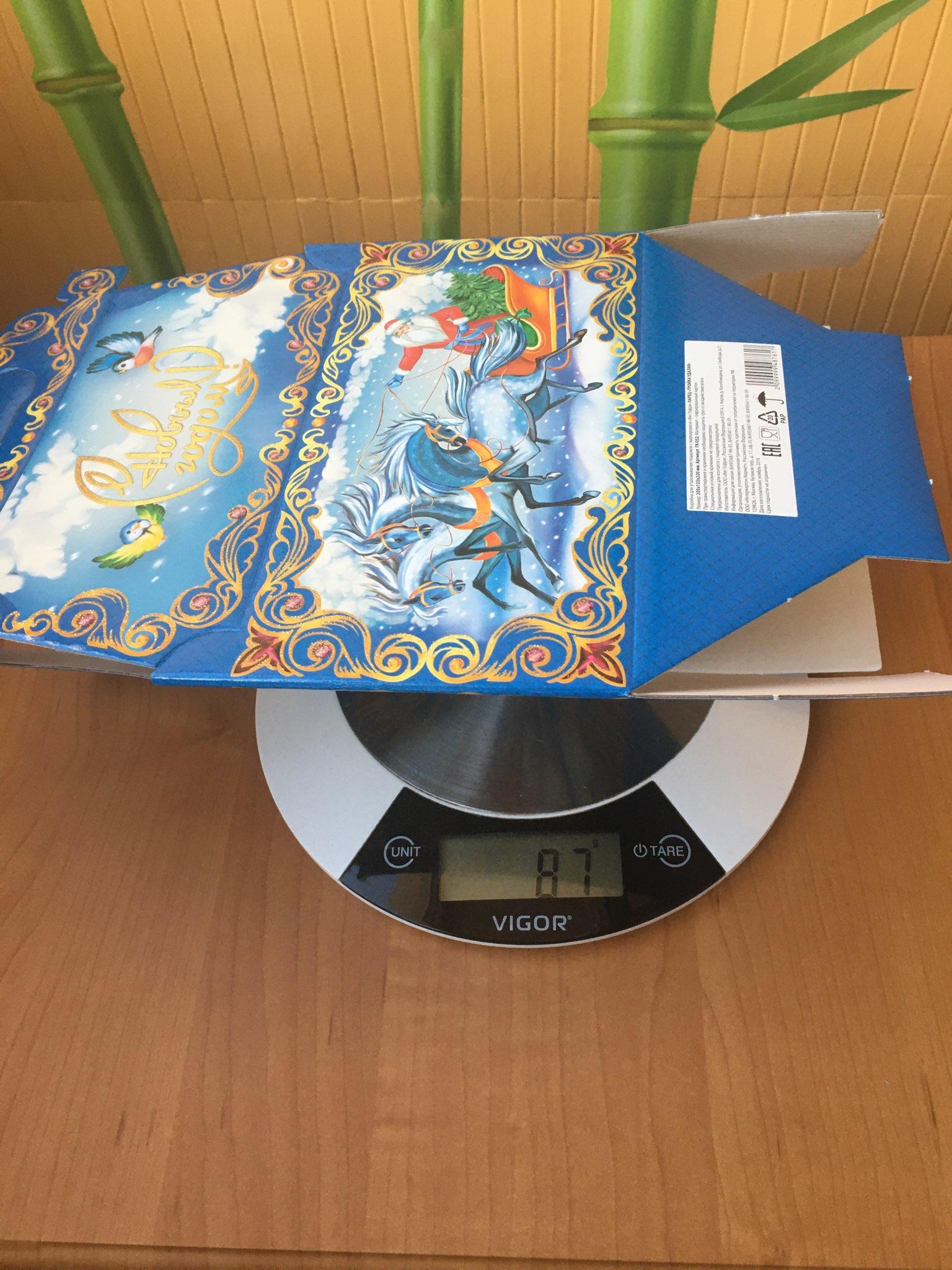 вес коробки складной картонной