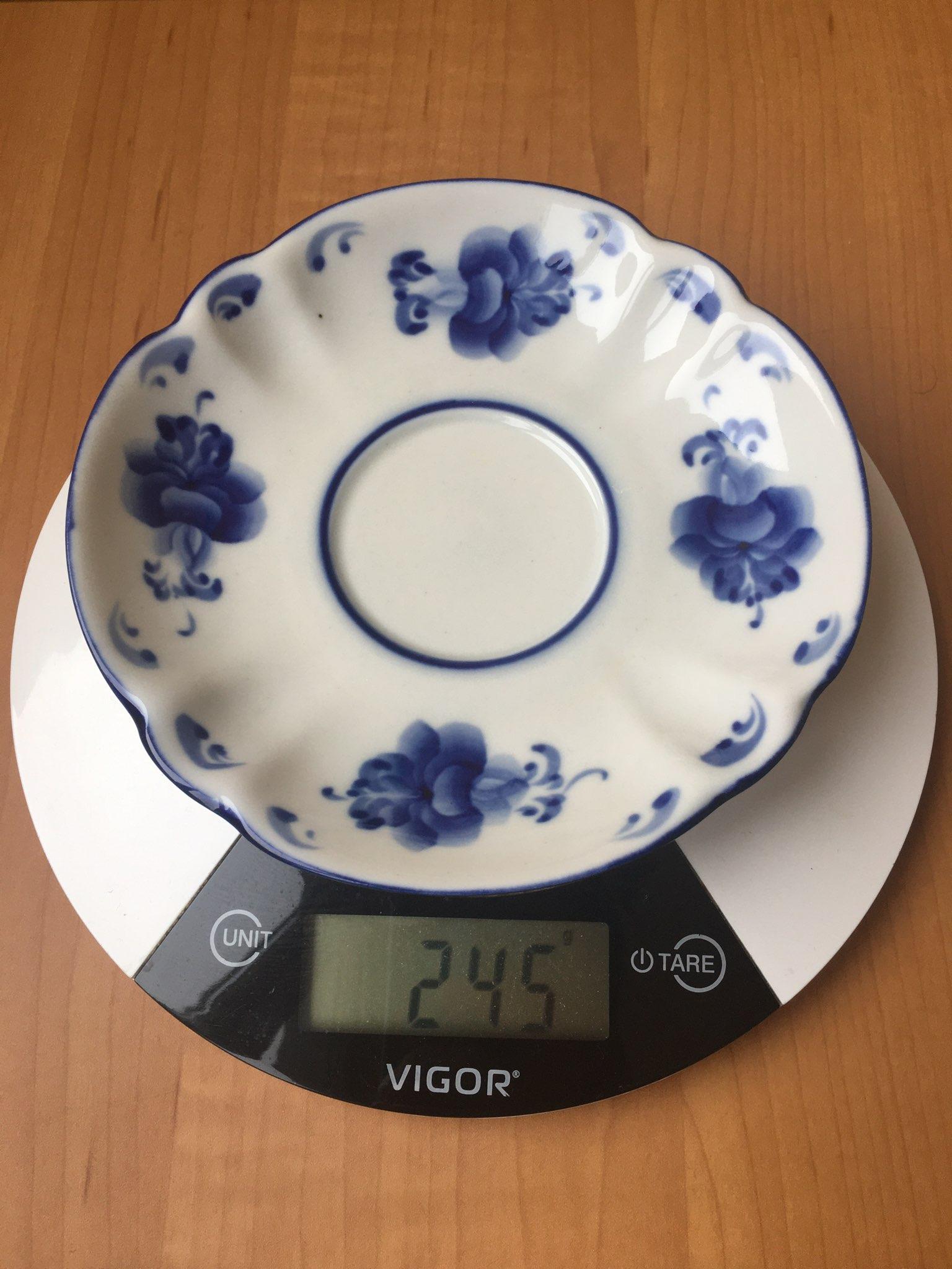 вес тарелки десертной - гжель