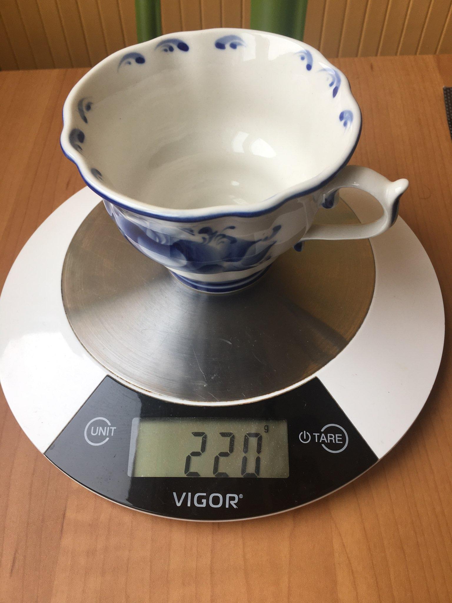 вес чашки - гжель