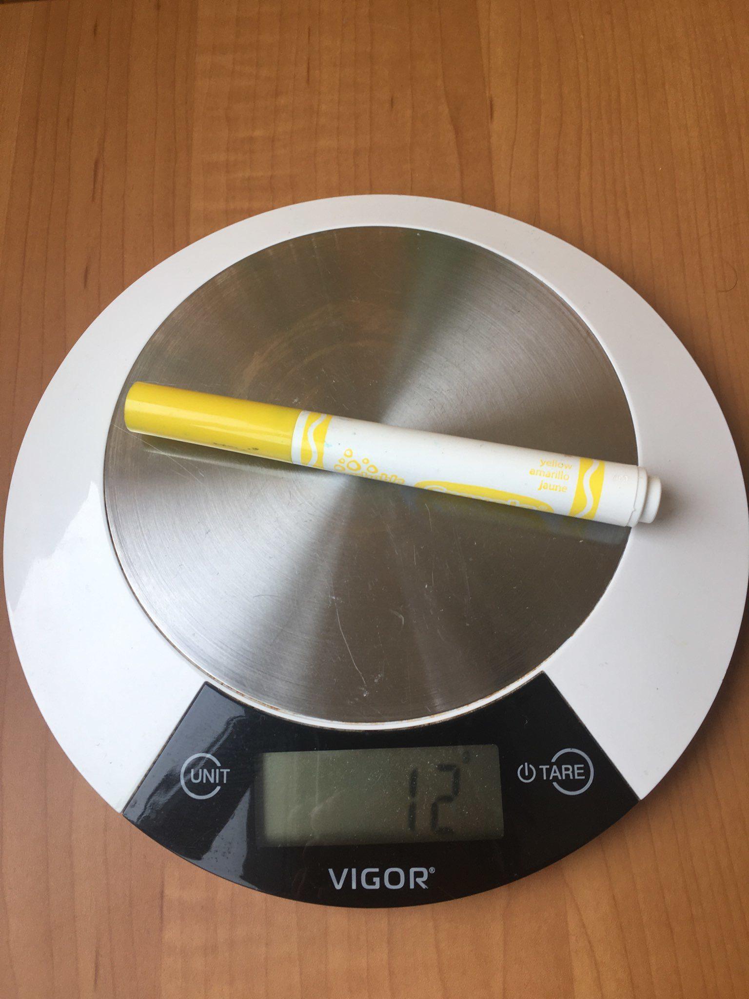 вес фломастера