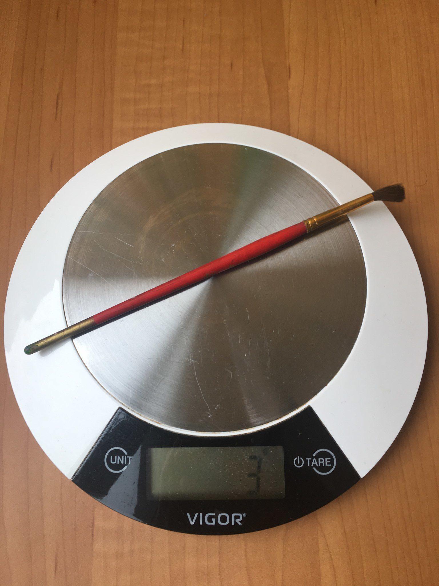 вес кисти для рисования