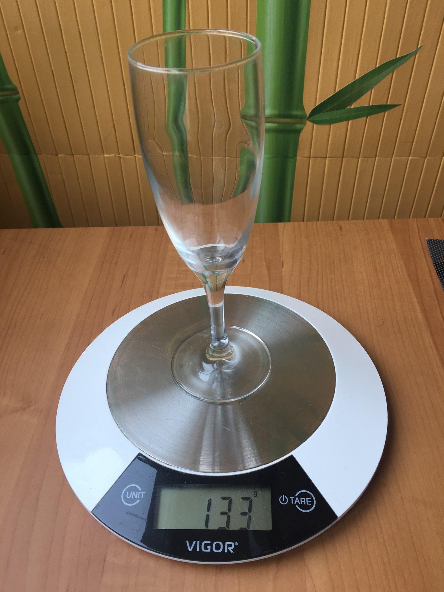 вес бокала для шампанского