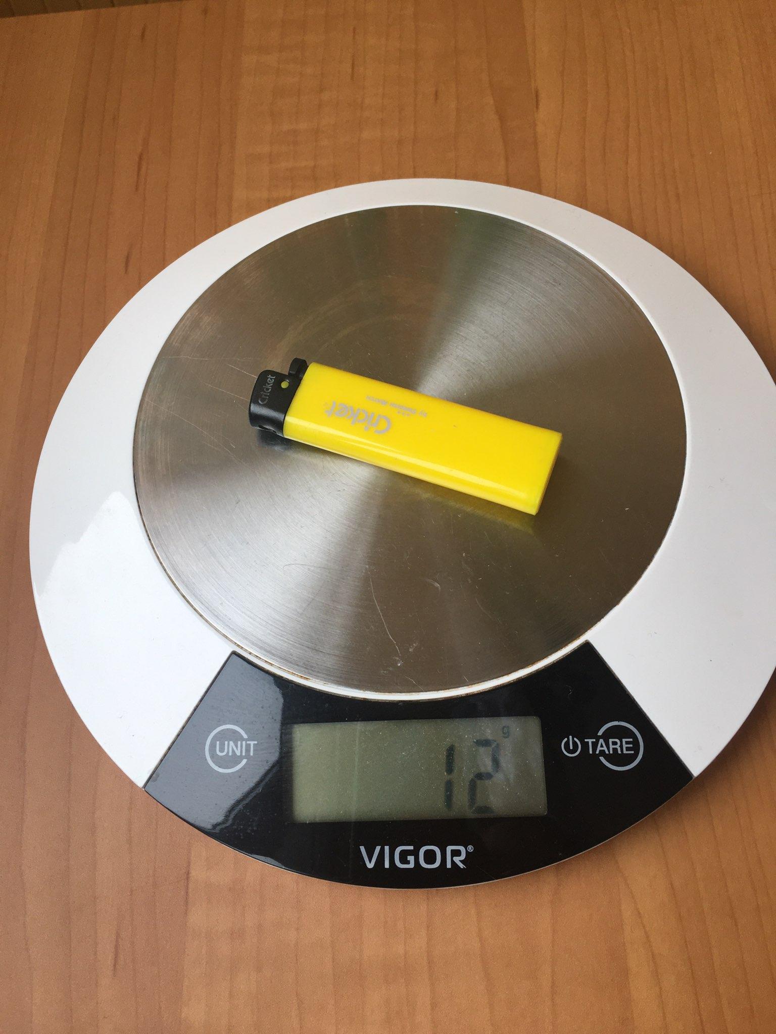 вес зажигалки обычной