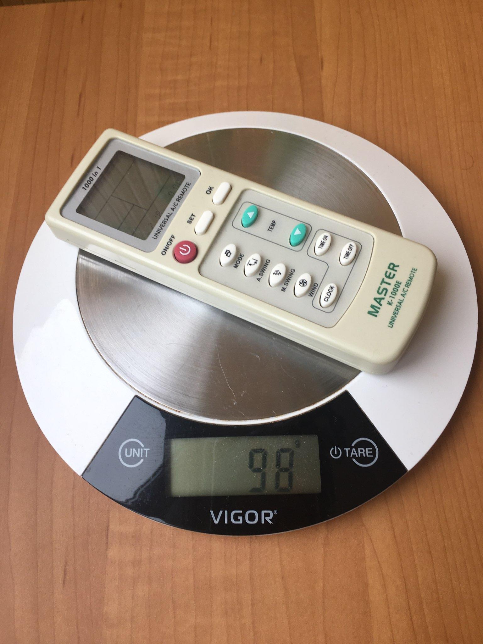 вес пульта от сплит системы