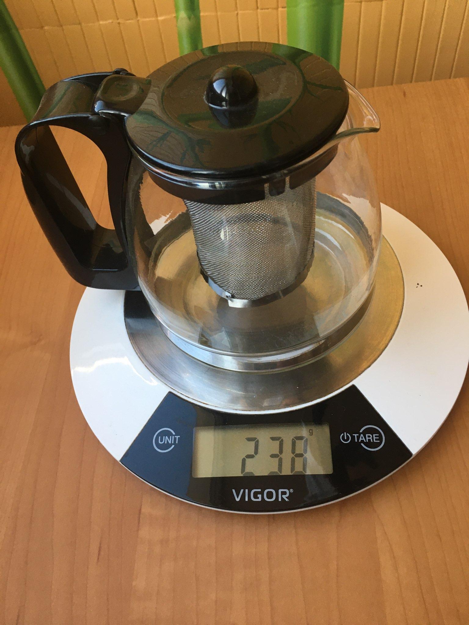 вес чайника заварочного