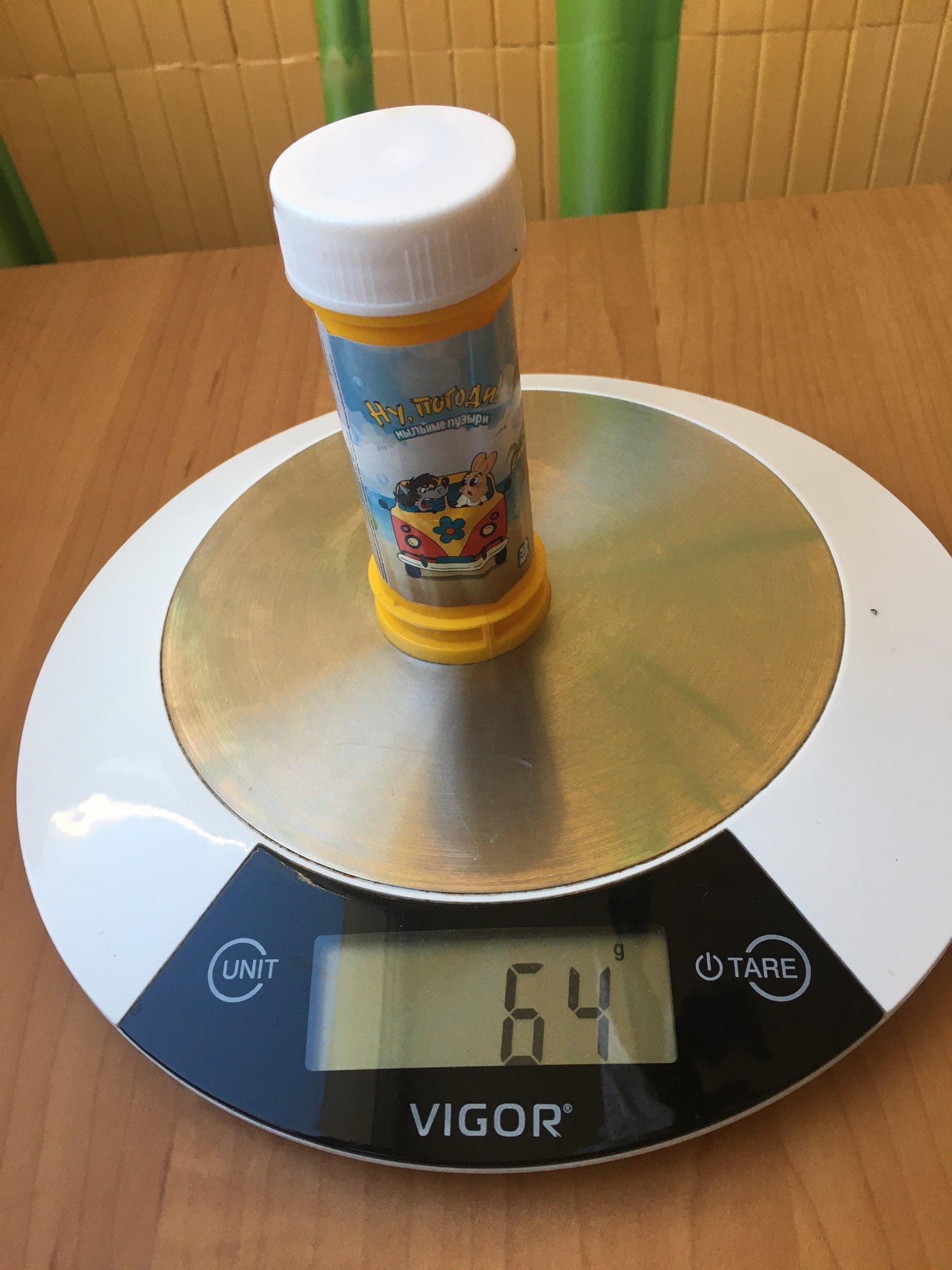 вес мыльных пузырей