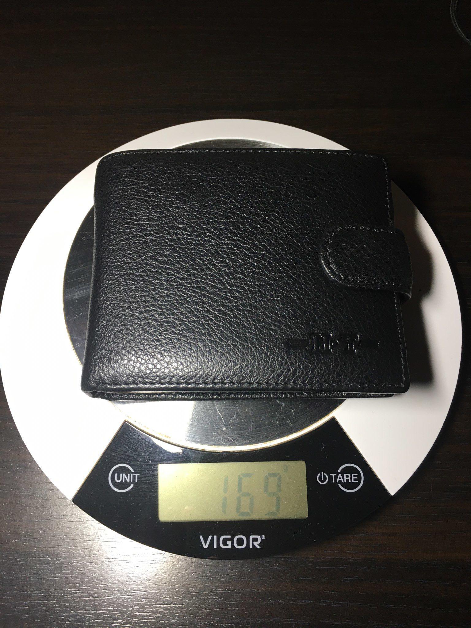 вес портмоне мужского