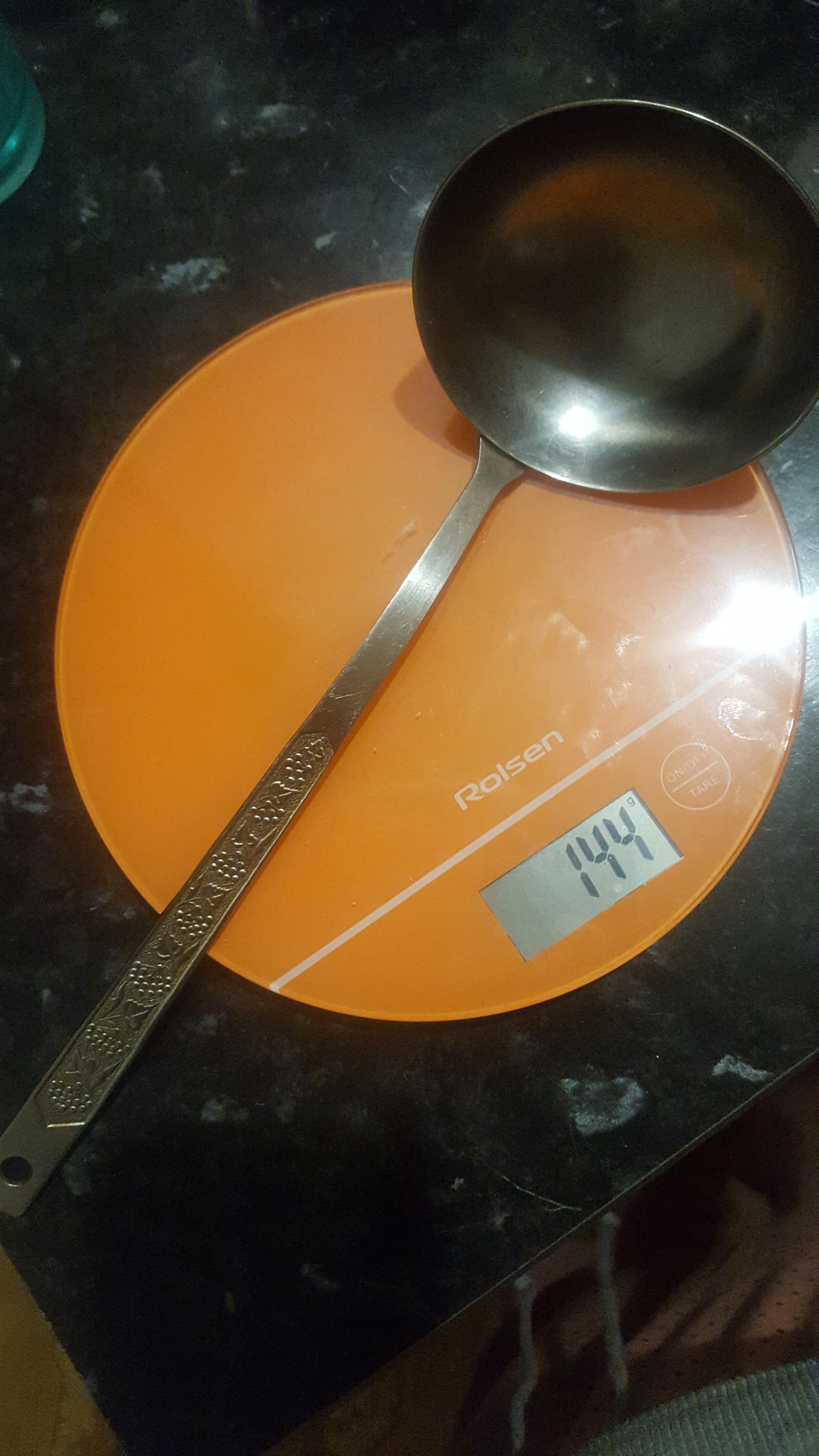 вес поварешки