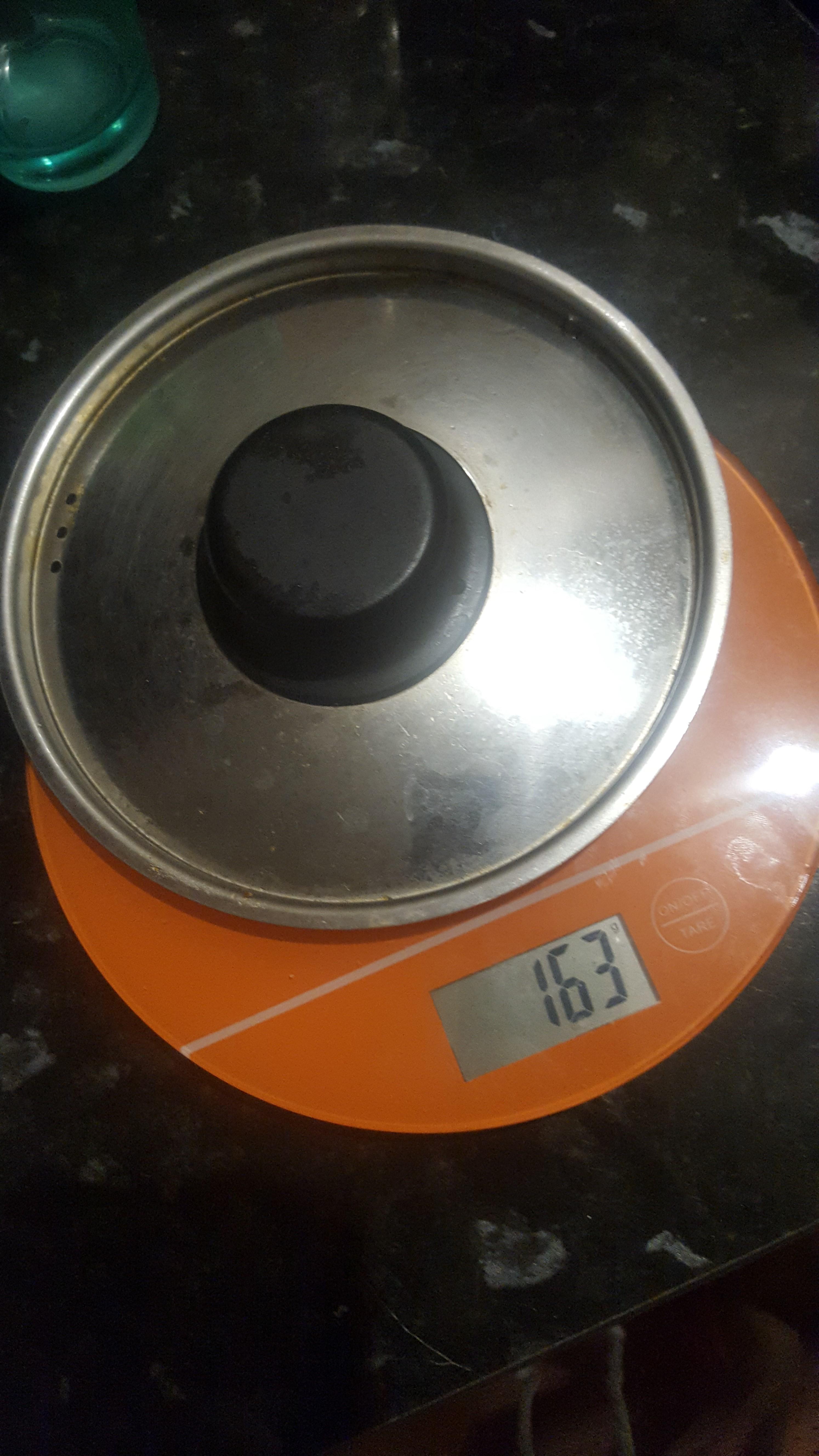 вес крышки для кастрюли