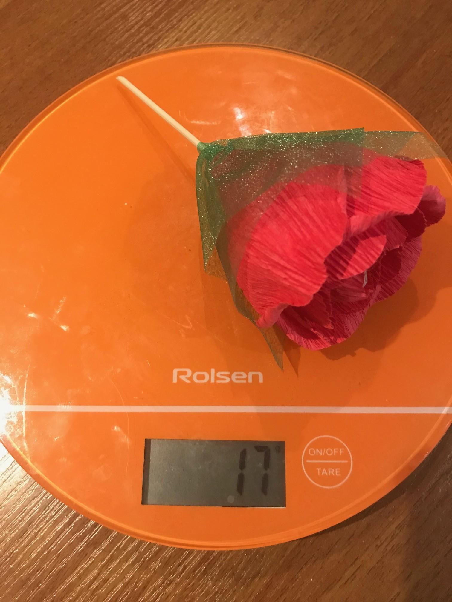 вес цветка из бумаги