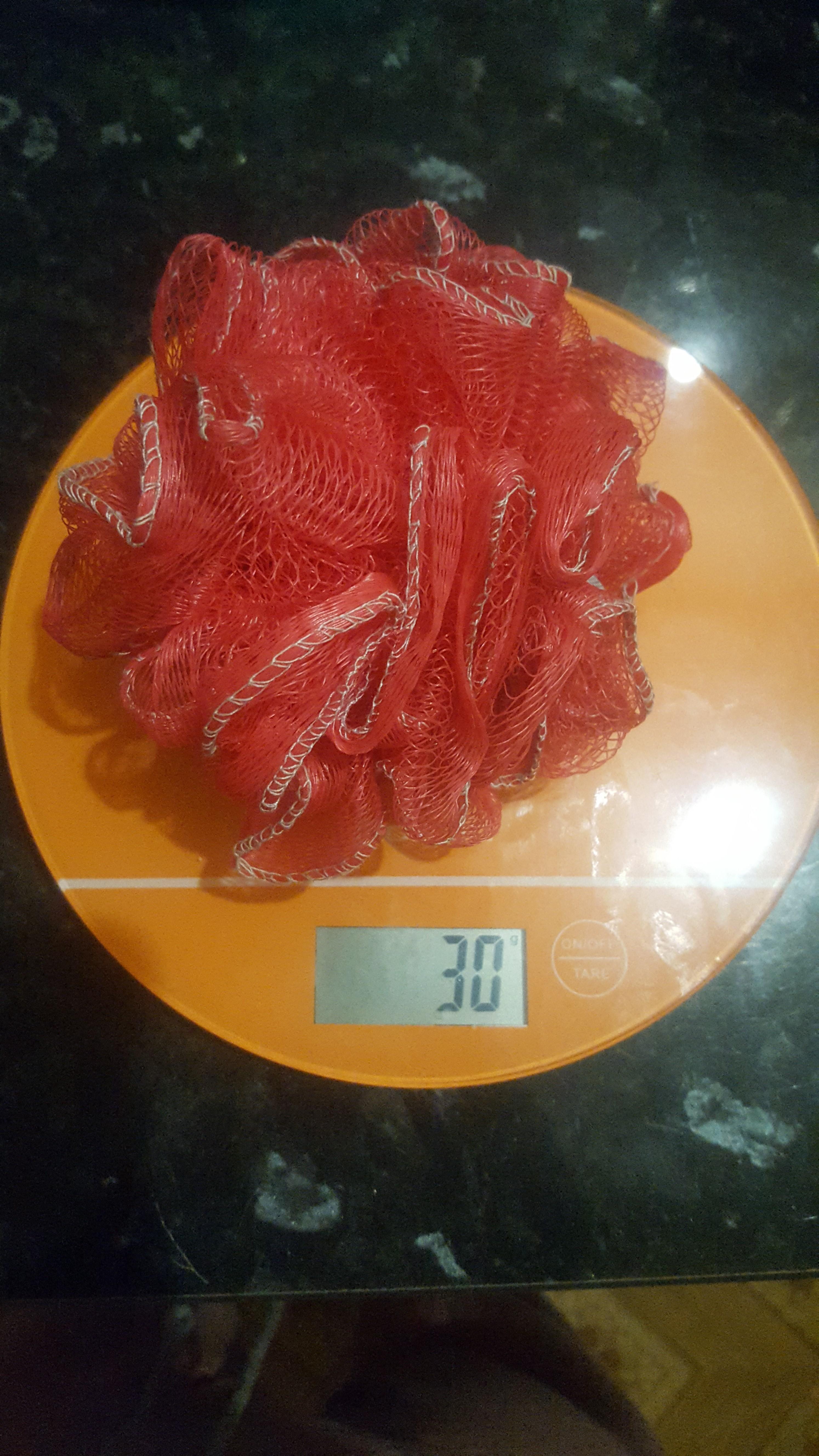вес мочалки плетеной